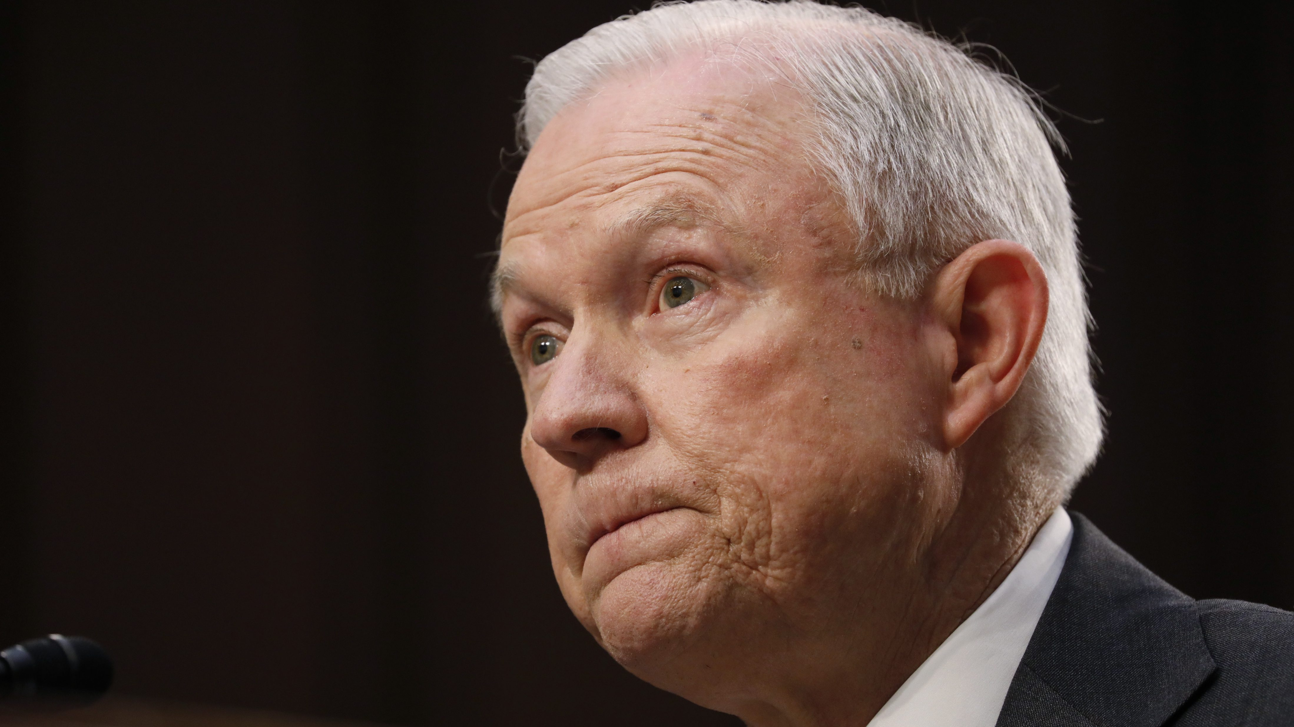 U.S. Attorney General Jeff Sessions testifies before a Senate Intelligence Committee hearing on Capitol Hill in Washington, U.S., June 13, 2017. REUTERS/Aaron P. Bernstein - RTS16Y0D