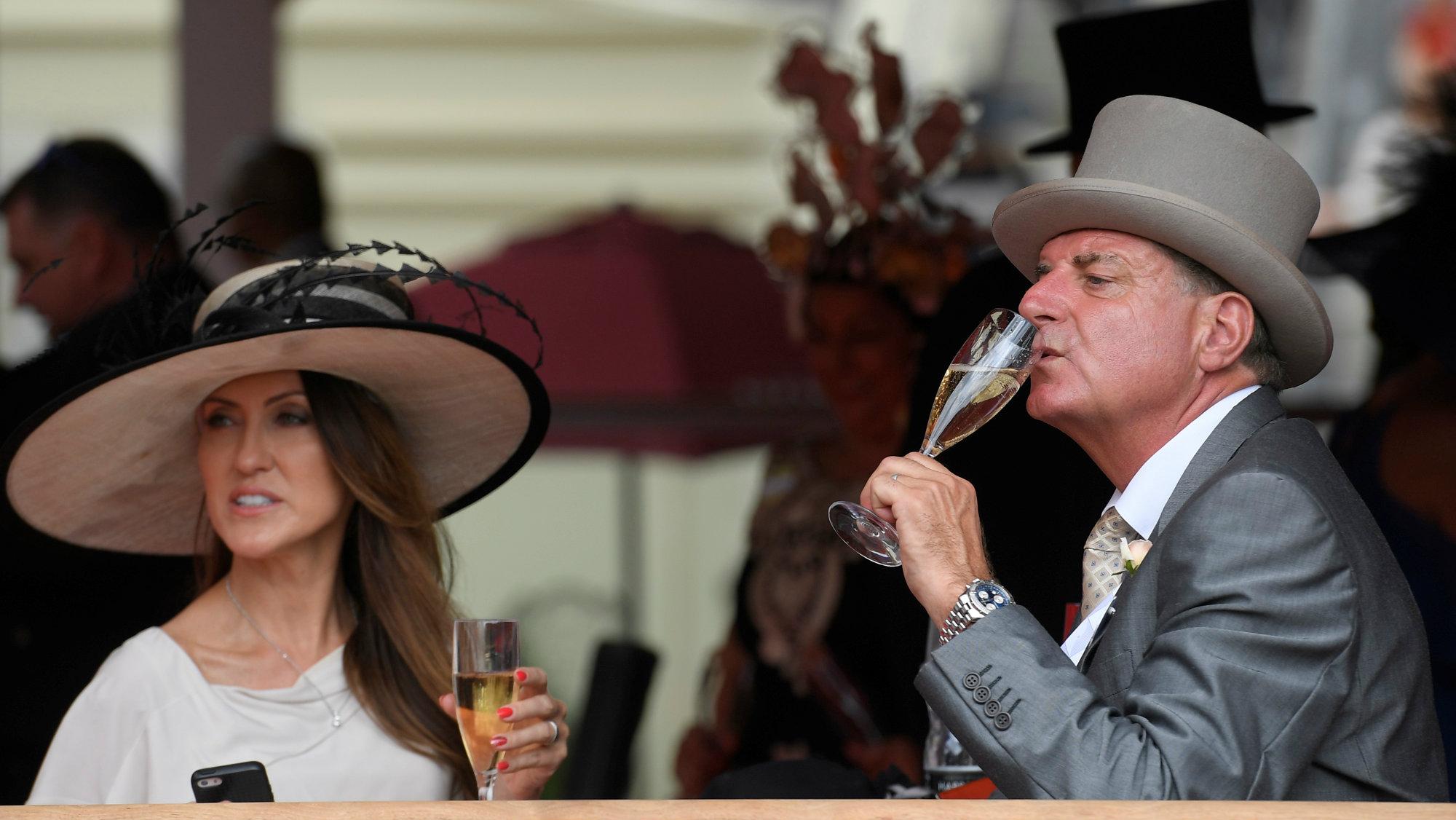 Wine drinkers in Britain