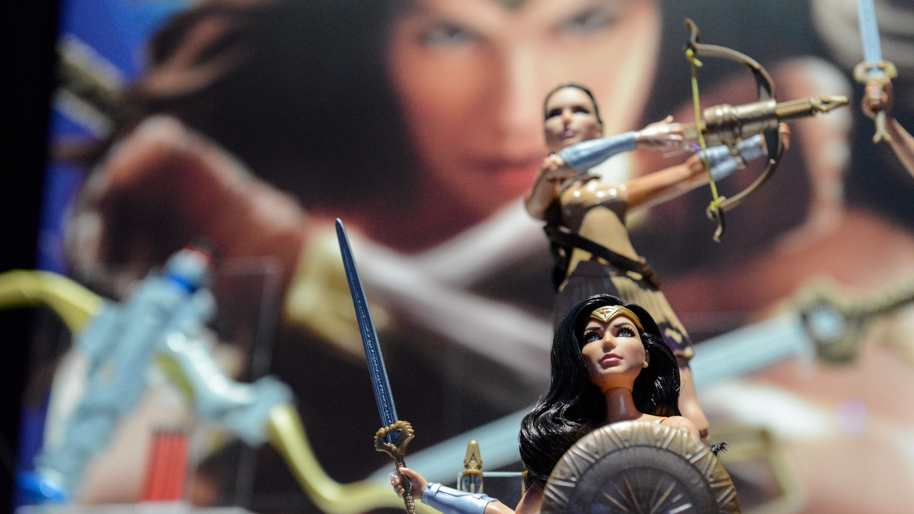 Mattel's Wonder Woman doll is seen at the 114th North American International Toy Fair in New York City, U.S. February 21, 2017.