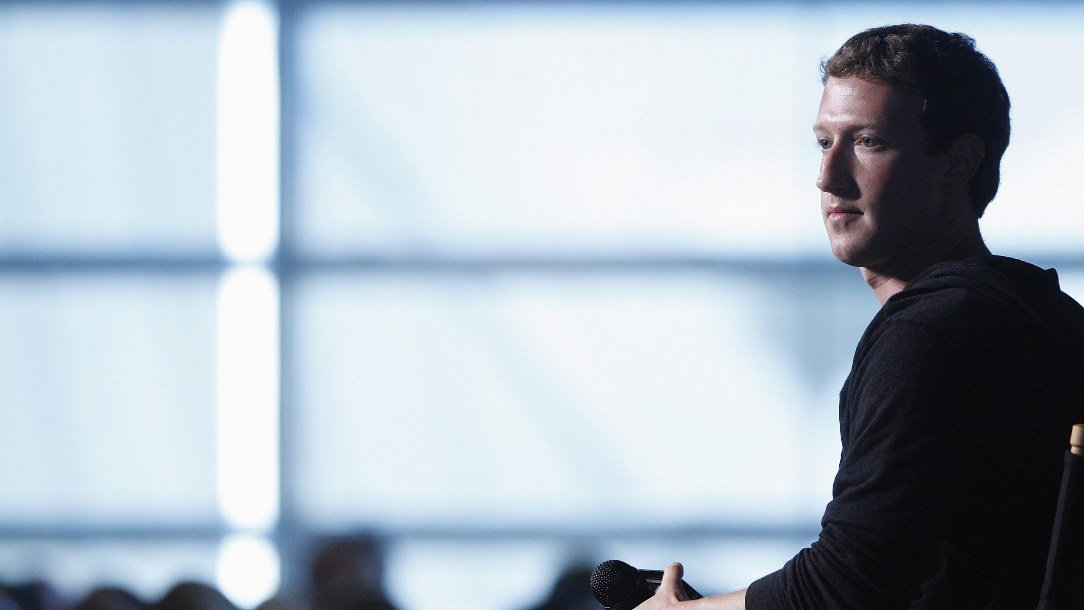 Facebook CEO Mark Zuckerberg sits for audience questions in an onstage interview for the Atlantic Magazine in Washington, September 18, 2013.