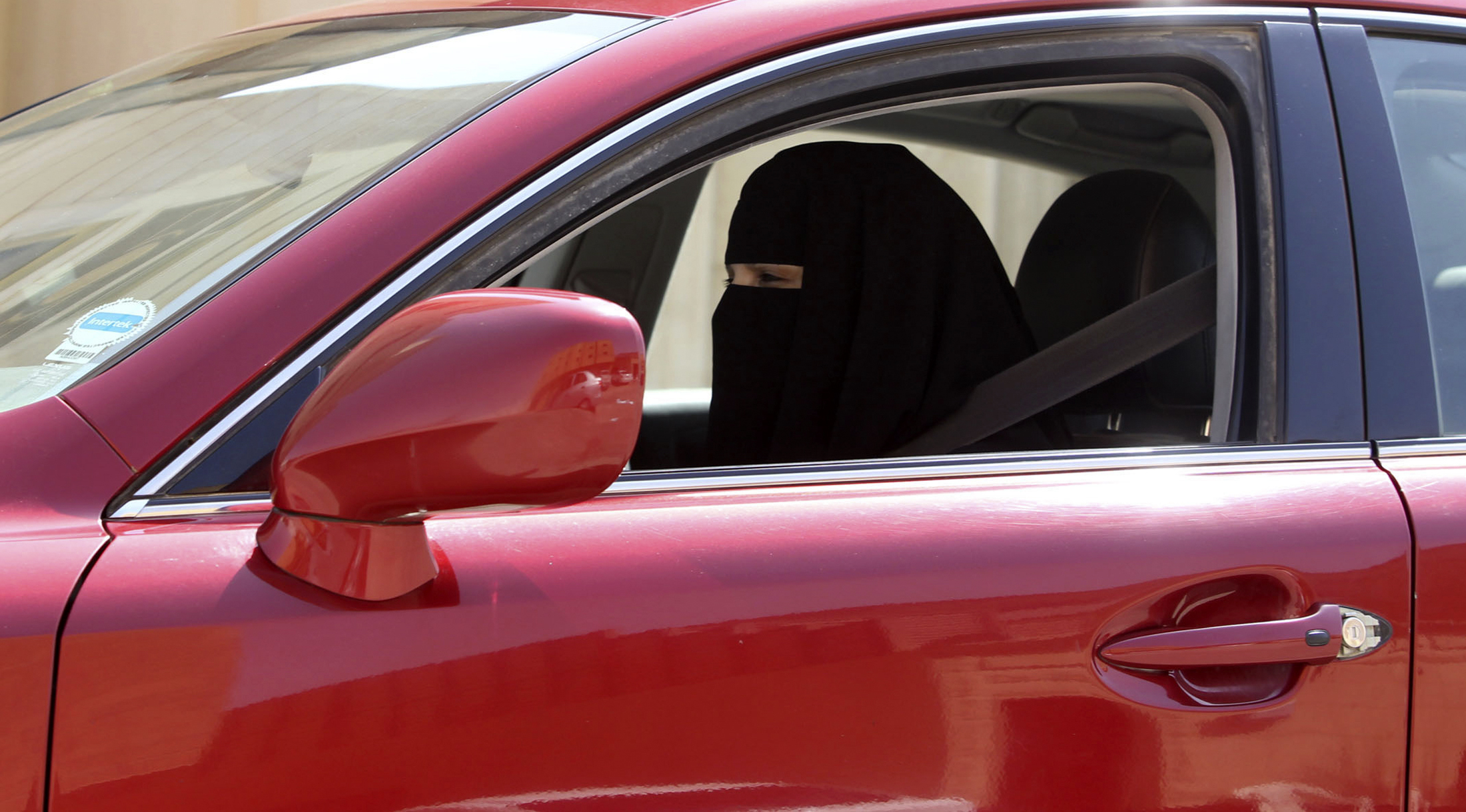 A woman drives a car in Saudi Arabia October 22, 2013. A conservative Saudi Arabian cleric has said women who drive risk damaging their ovaries and bearing children with clinical problems, countering activists who are trying to end the Islamic kingdom's male-only driving rules. Saudi Arabia is the only country in the world where women are barred from driving, but debate about the ban, once confined to the private sphere and social media, is increasingly spreading to public forums too.