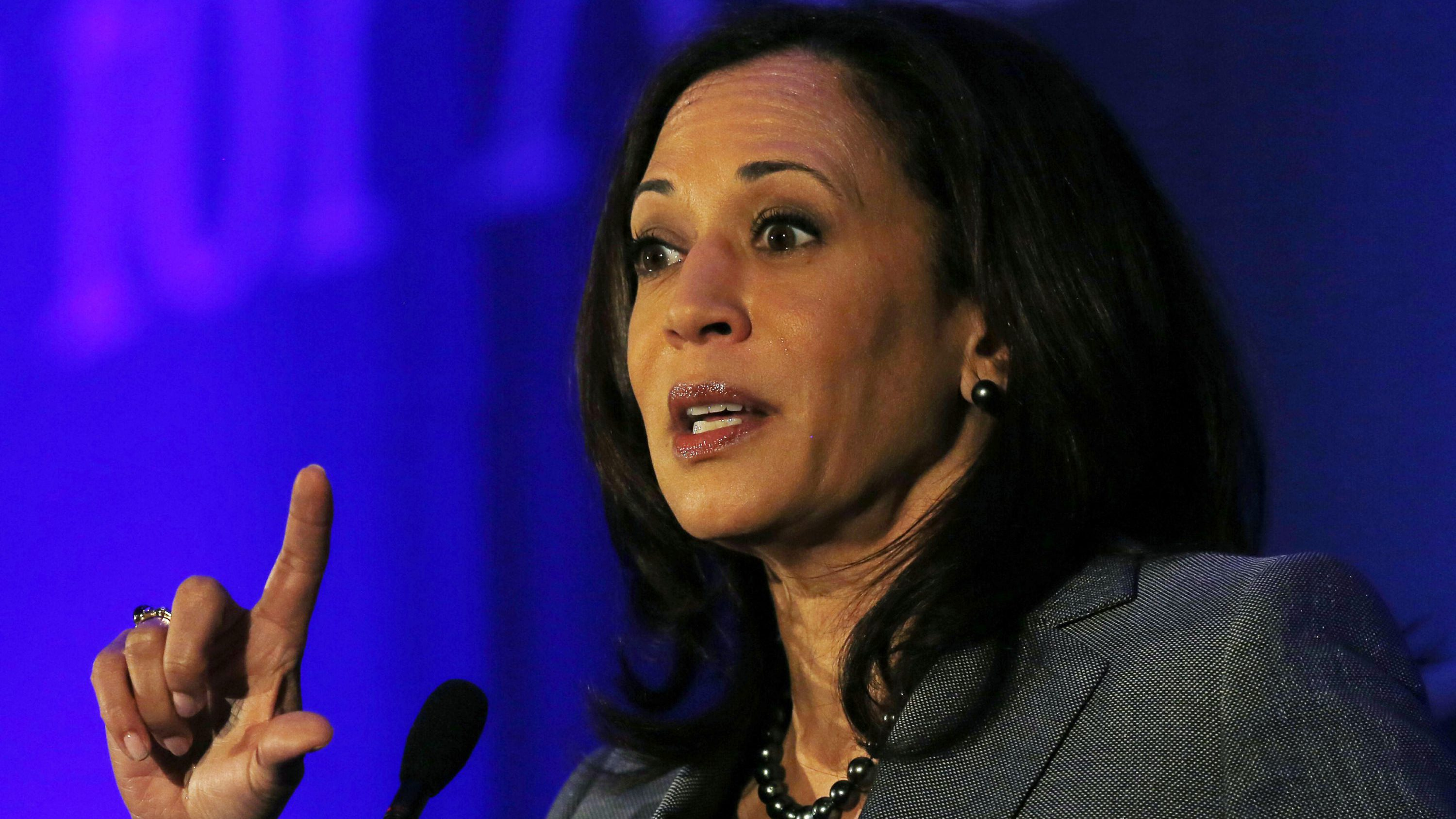 California Attorney General Kamala Harris speaks at the Center for American Progress' 2014 Making Progress Policy Conference in Washington, DC, U.S. on November 19, 2014.