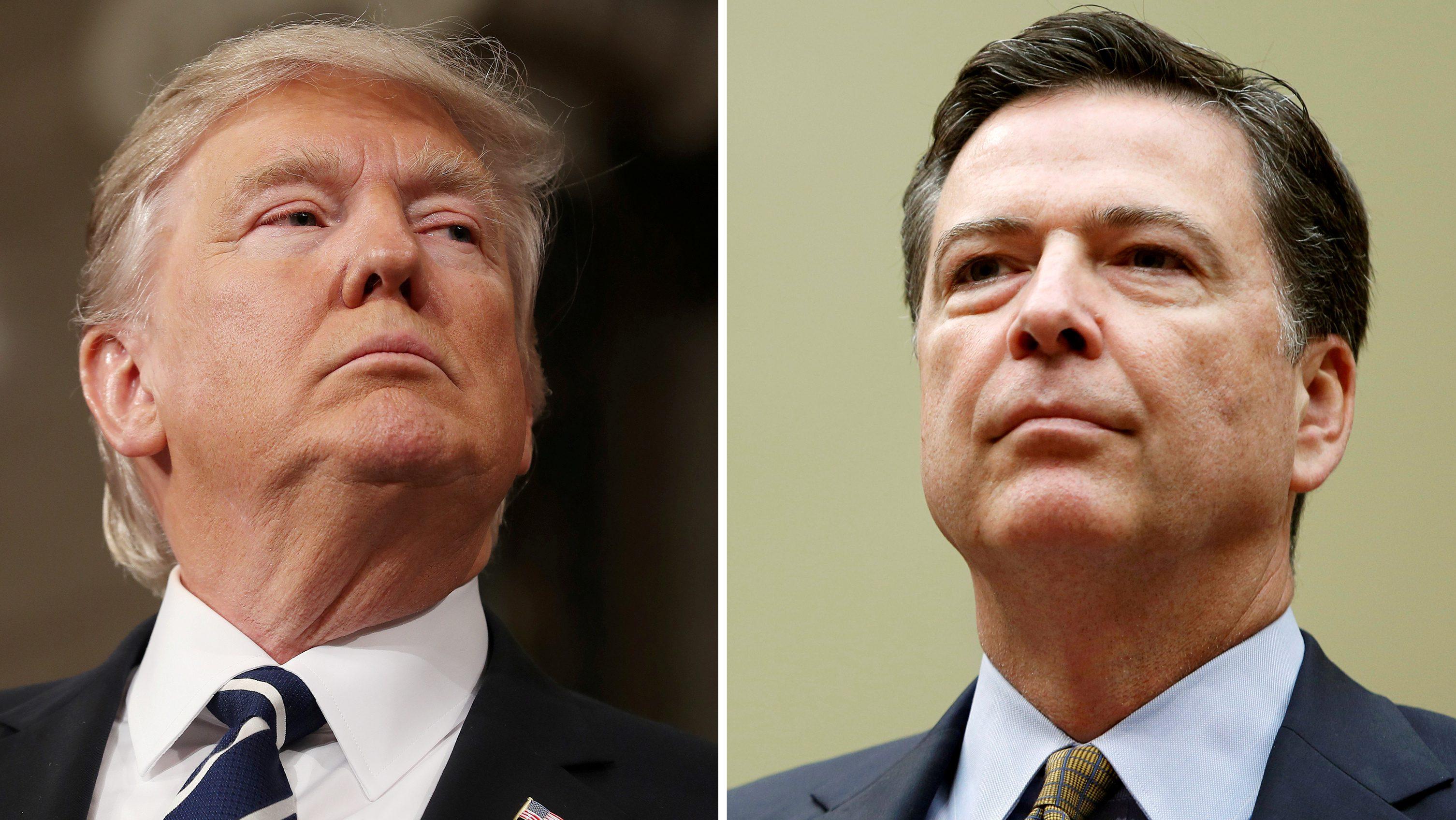 James Comey and Donald Trump