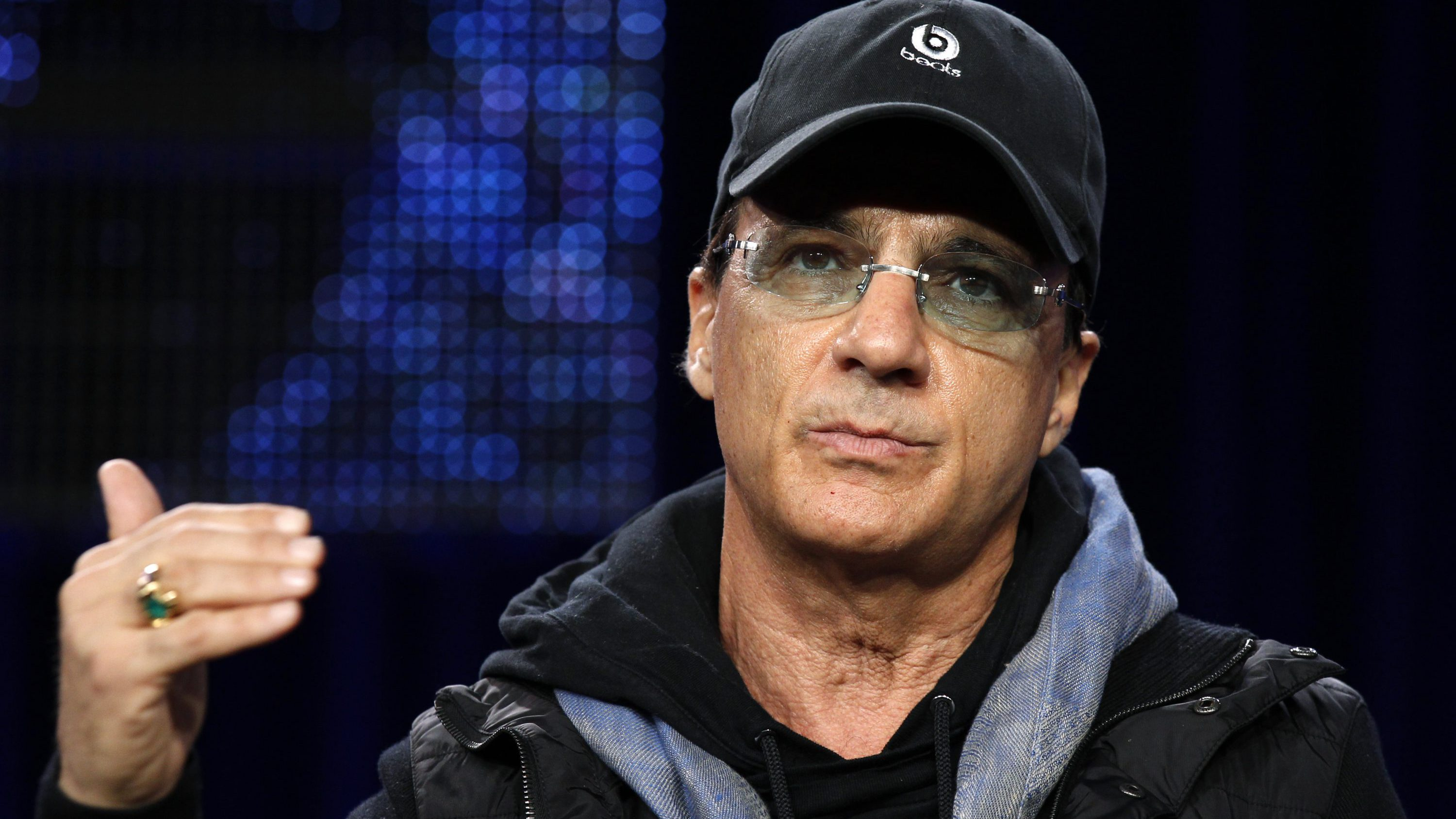 "In-House Mentor Jimmy Iovine takes part in a panel discussion for the show ""American Idol"" at the Fox Broadcasting Company Winter Press Tour 2011 for the Television Critics Association in Pasadena, California January 11, 2011."