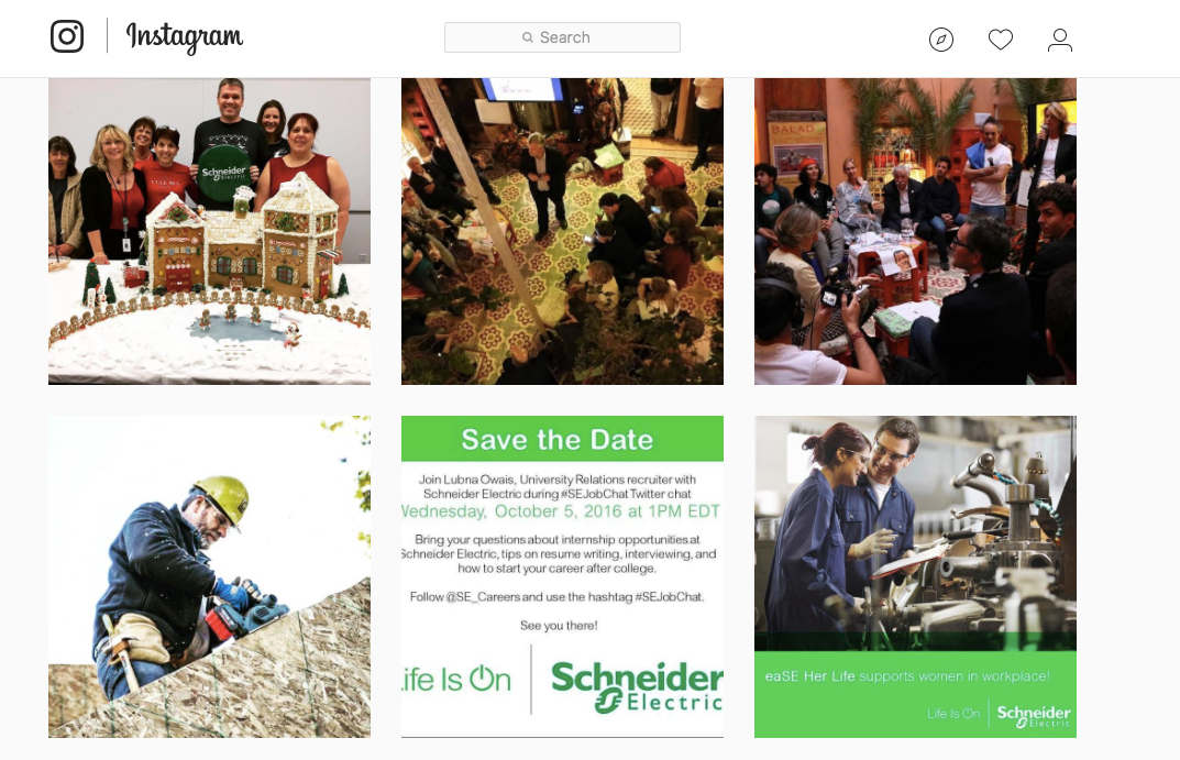 Schneider Electric is one of many companies using Instagram to recruit talent.
