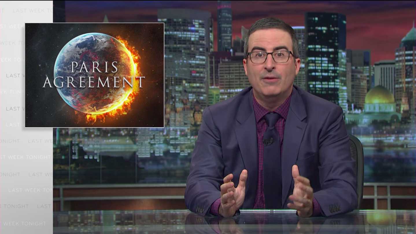 John Oliver last week tonight Paris agreement and Trump
