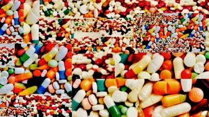 Pill collage.