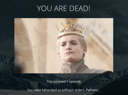 hbo game of thrones quiz