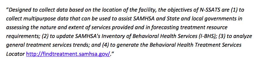 SAMHSA aample sentence.
