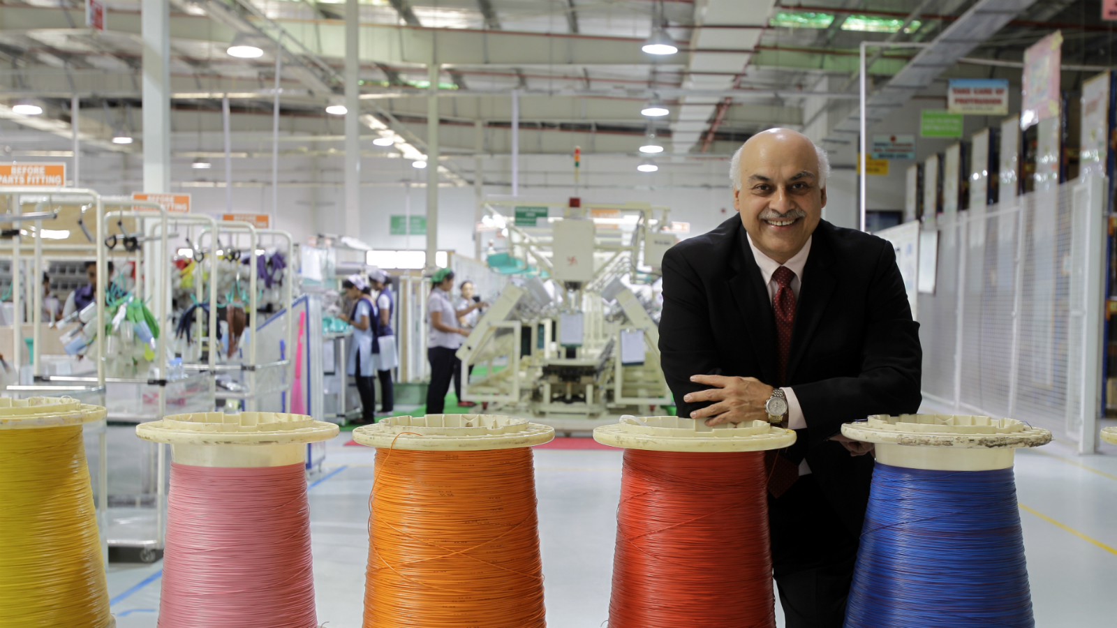 Vivek Chaand (VC) Sehgal, the Vice Chairman of the Motherson Sumi Systems inside his factory in Sharjah, UAE. ()