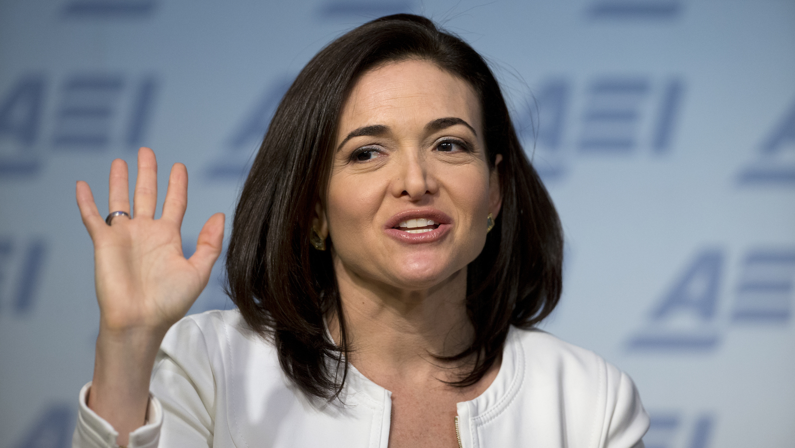 Facebook Chief Operating Officer Sheryl Sandberg speaks at the American Enterprise Institute, Wednesday, June 22, 2016 in Washington. (AP Photo/Alex Brandon)