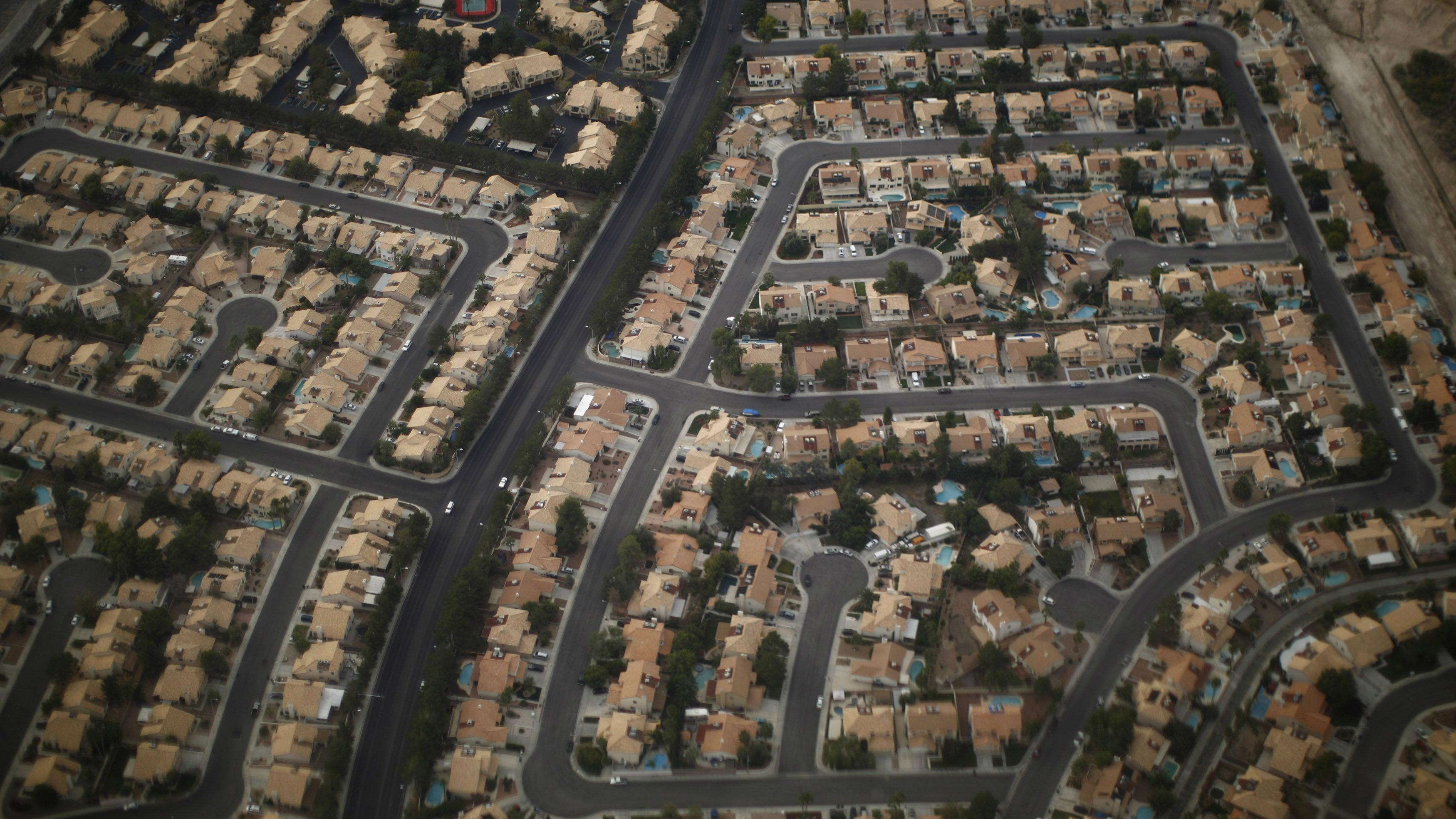 Overhead shot of rural Las Vegas.