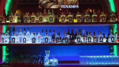 Tequila fills a bar in Mexico City