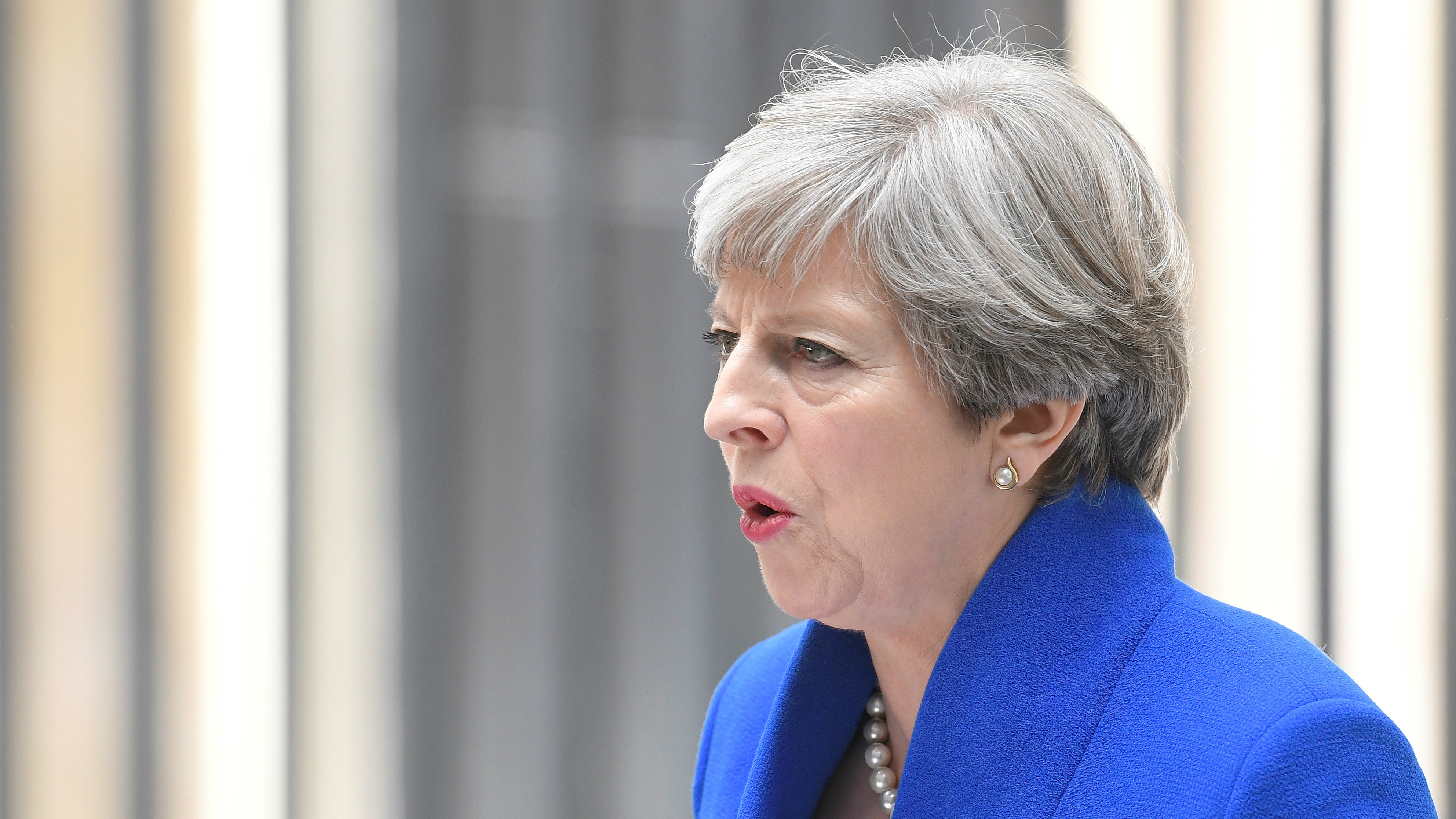 British prime minister Theresa May says she'll form a minority government