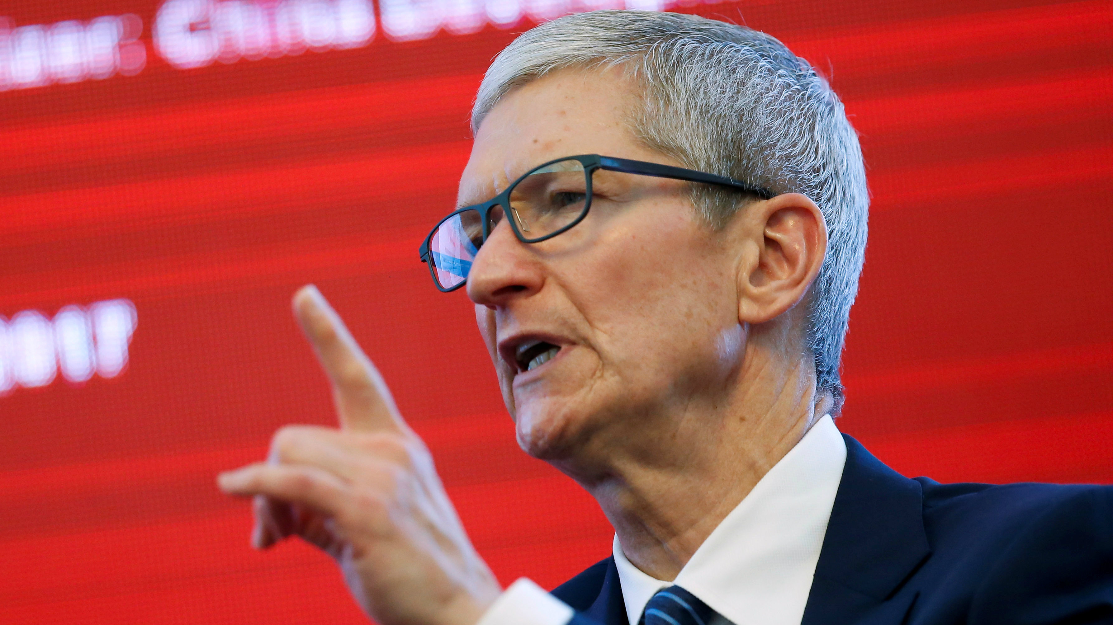 Apple CEO Tim Cook attends the China Development Forum in Beijing, China, March 18, 2017.