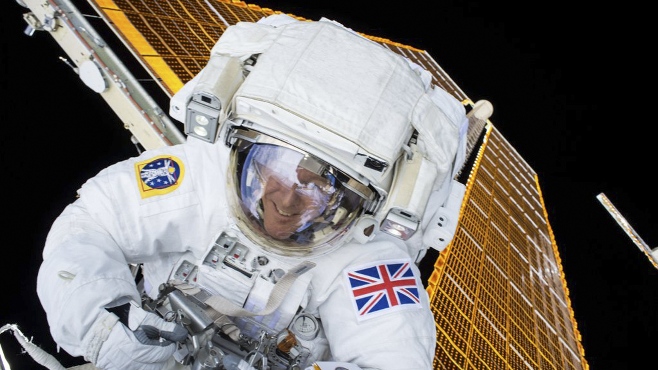 British astronaut Tim Peake is shown during his first spacewalk at the International Space Station in this NASA image tweeted on January 15, 2015. Peake became the first astronaut representing Britain to walk in space when he left the International Space Station (ISS) on Friday to fix a power station problem, generating huge interest back in his homeland.    REUTERS/NASA/Handout via Reuters  FOR EDITORIAL USE ONLY. NOT FOR SALE FOR MARKETING OR ADVERTISING CAMPAIGNS. THIS IMAGE HAS BEEN SUPPLIED BY A THIRD PARTY. IT IS DISTRIBUTED, EXACTLY AS RECEIVED BY REUTERS, AS A SERVICE TO CLIENTS - RTX22LT1