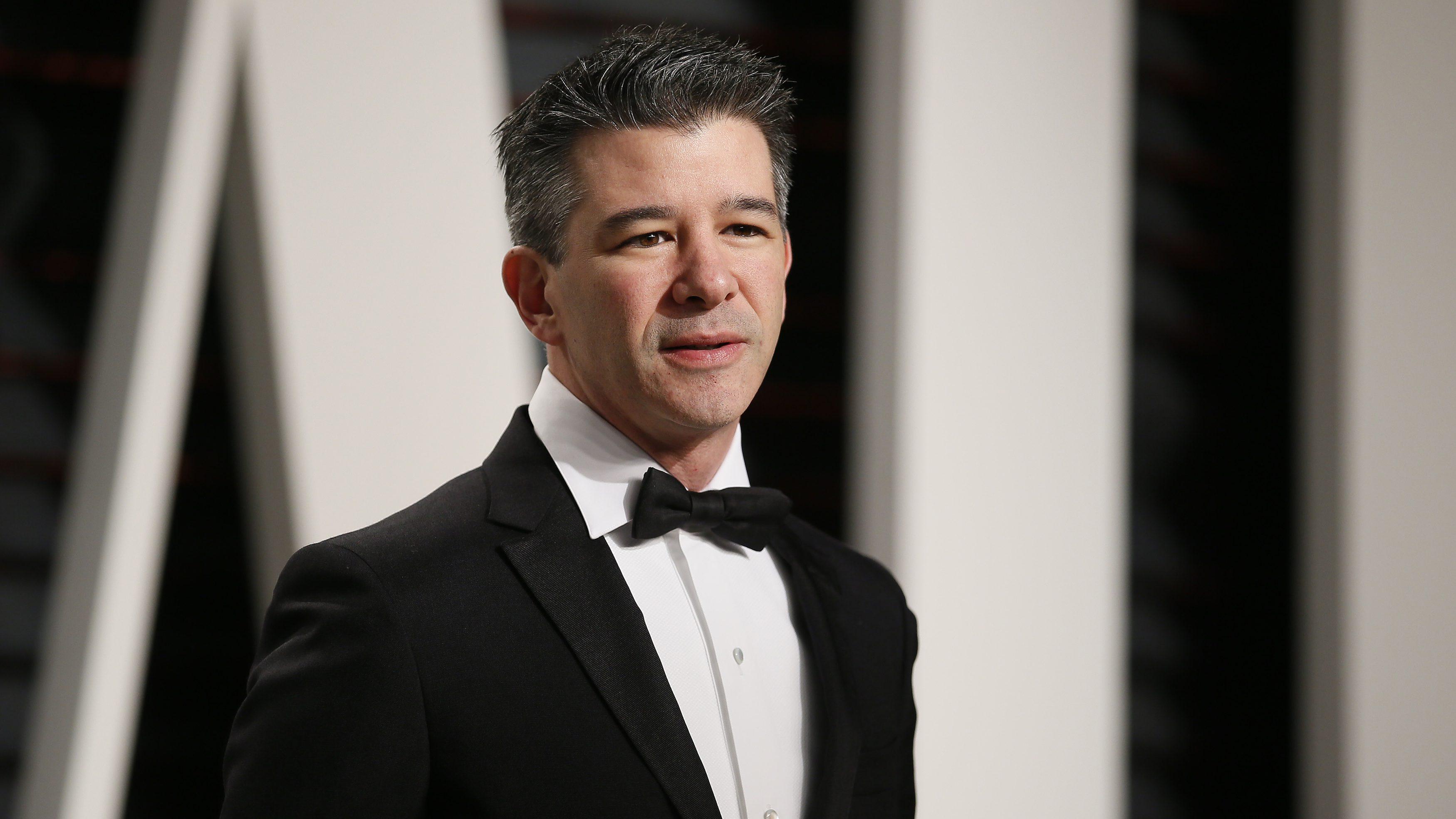89th Academy Awards - Oscars Vanity Fair Party - Beverly Hills, California, U.S. - 26/02/17 – Uber co-founder Travis Kalanick. REUTERS/Danny Moloshok - RTS10HMR