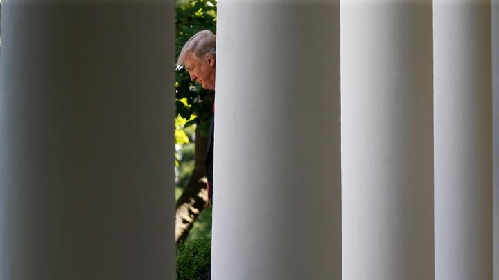 Trump at White House, preParis withdrawal.