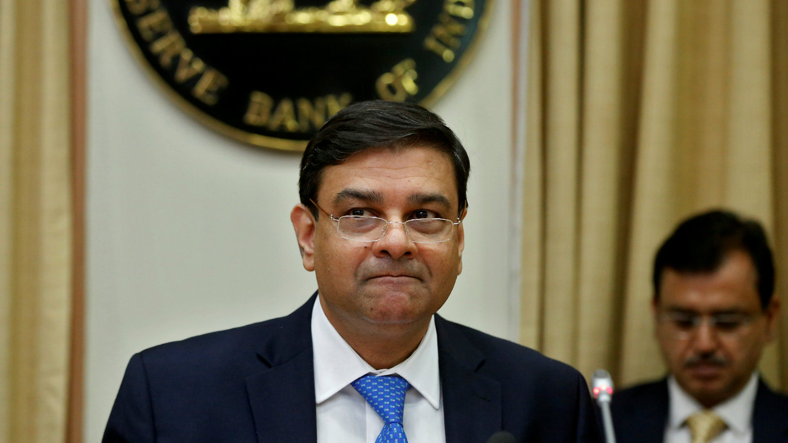 The Reserve Bank of India (RBI) Governor Urjit Patel attends a news conference after the bi-monthly monetary policy review in Mumbai, India April 6, 2017.