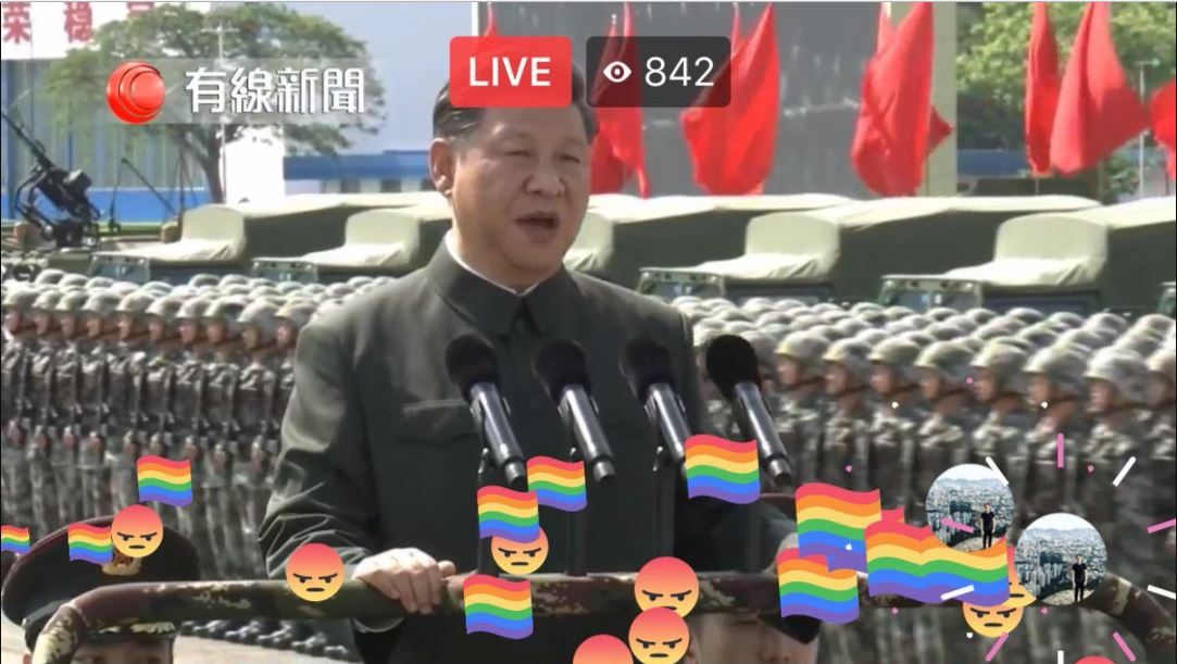 "Xi's ""hello comrade!"" got  waves of gay pride and rage emojis."