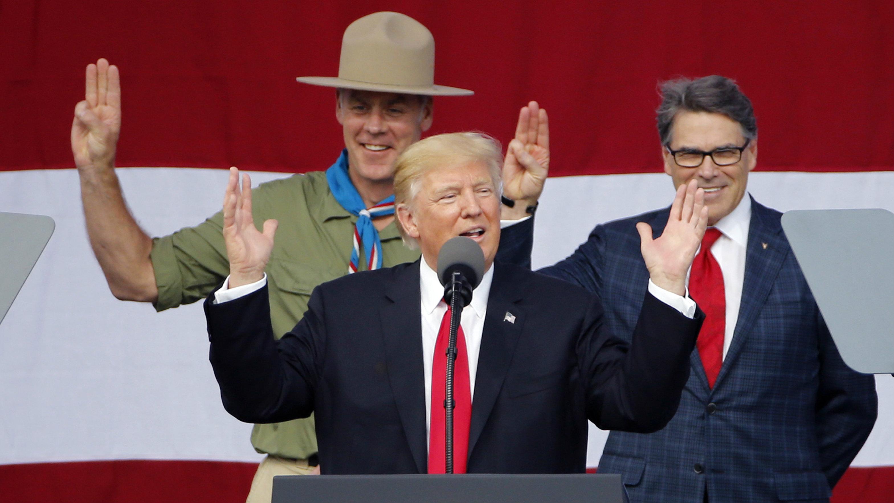 Was donald trump a boy scout