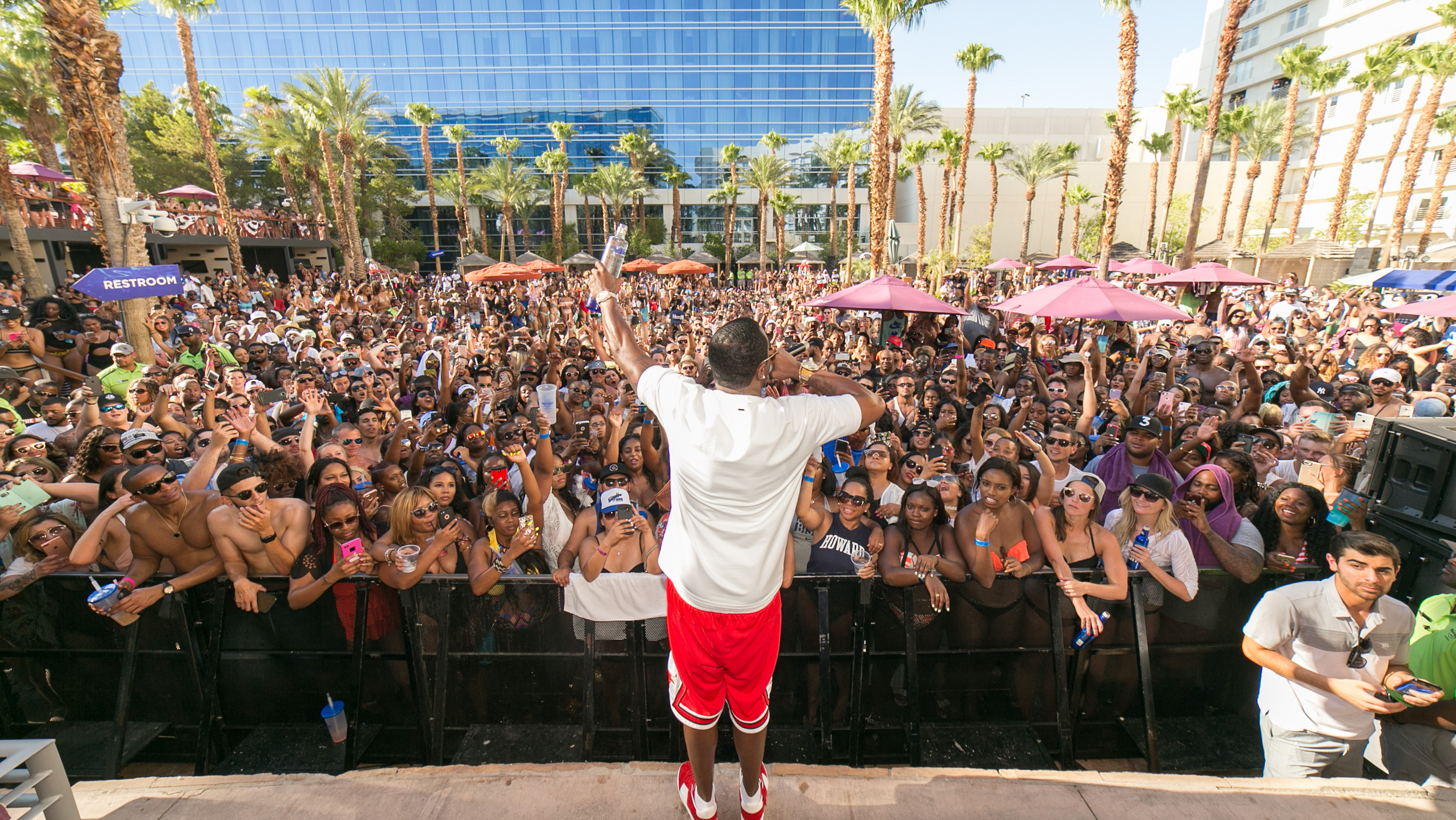 LAS VEGAS, NV - JULY 1: Puff Daddy Hosts at Rehab Beach Club at The Hard Rock Hotel & Casino in Las Vegas, Nevada on July 1, 2017. Credit:  GDP Photos/MediaPunch/IPX
