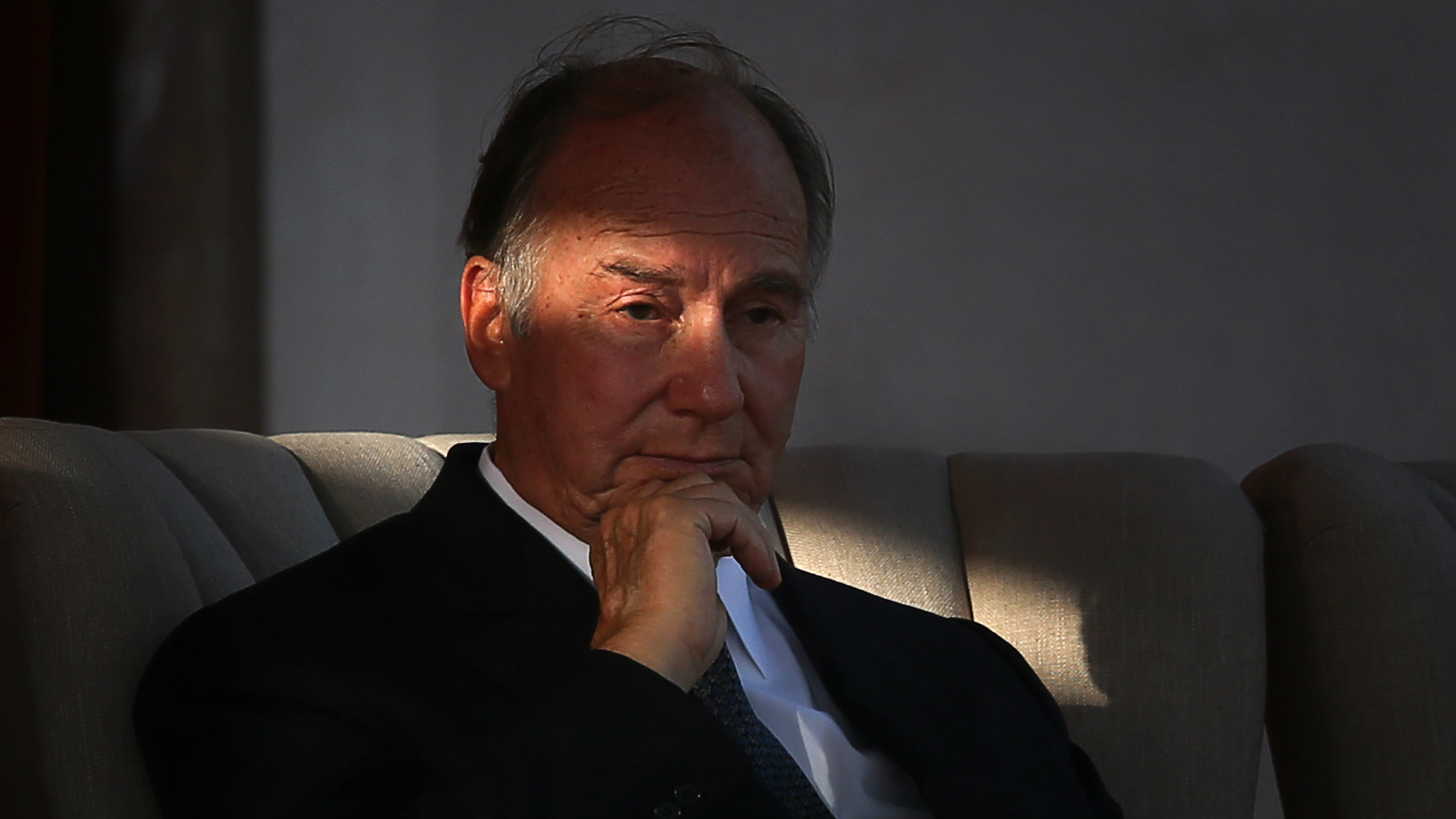 The Aga Khan, spiritual head of Ismaili Muslims