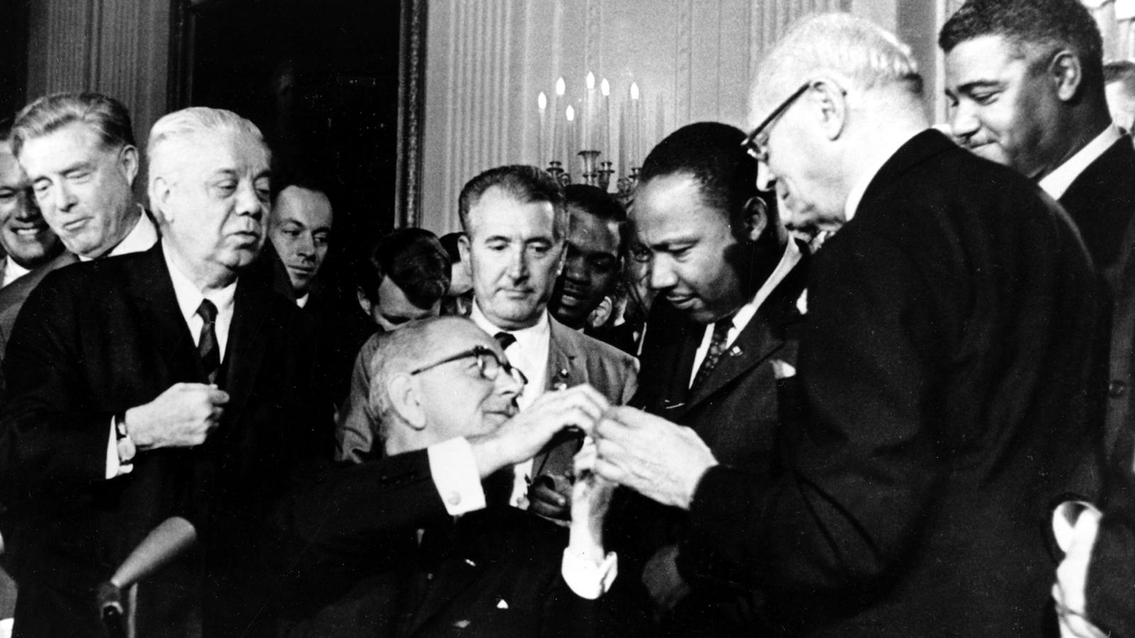 the us civil rights act was signed on this day in 1964 — quartz