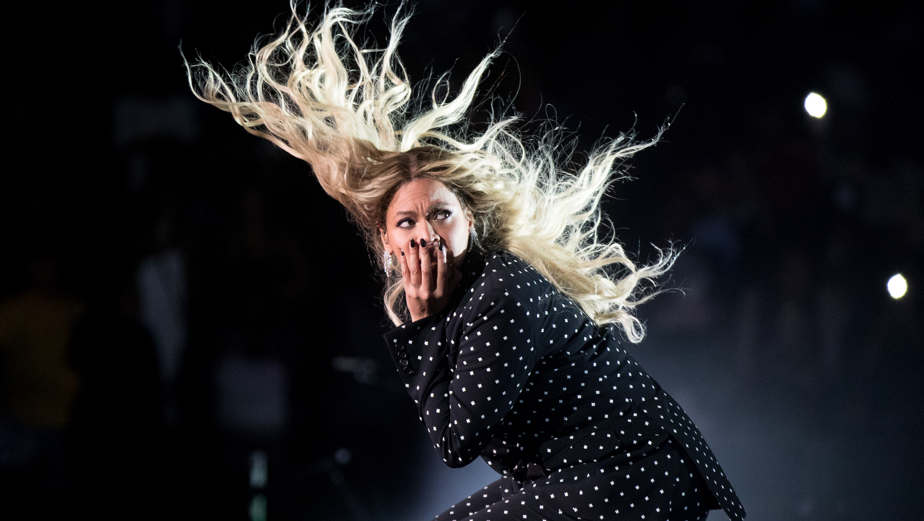 Beyonce performs at a Get Out the Vote concert for Democratic presidential candidate Hillary Clinton at the Wolstein Center in Cleveland, Friday, Nov. 4, 2016. (AP Photo/Andrew Harnik)
