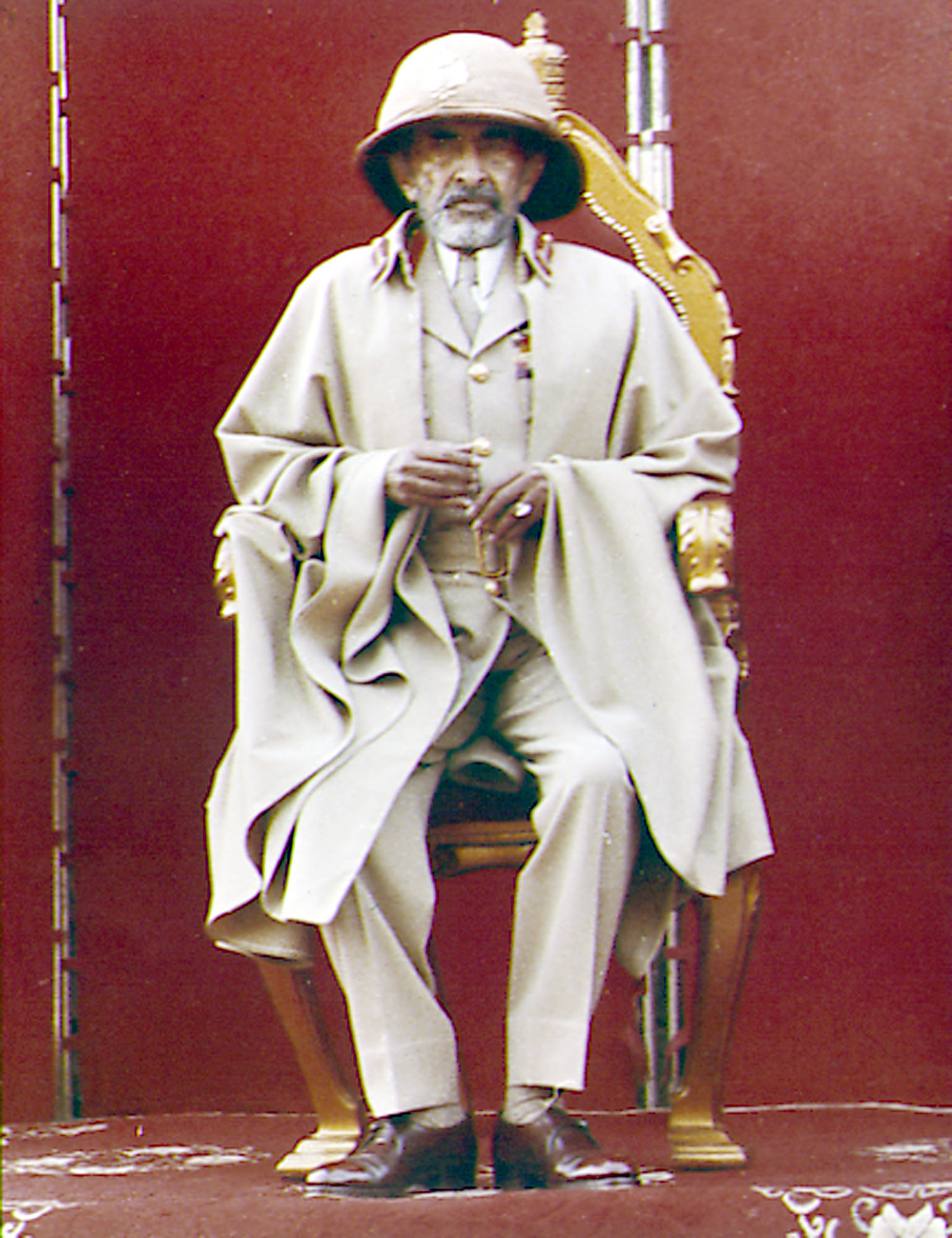 Haile Selassie, emperor of Ethiopia, attends a ceremony, March 02, 1974, to mark the battle of Adowa at St. George cathedral in Addis Ababa. The occasion marked the 78th. anniversary of a victory over Italian forces. The emperors public appearance followed a revolt by some units of Ethiopias armed forces.