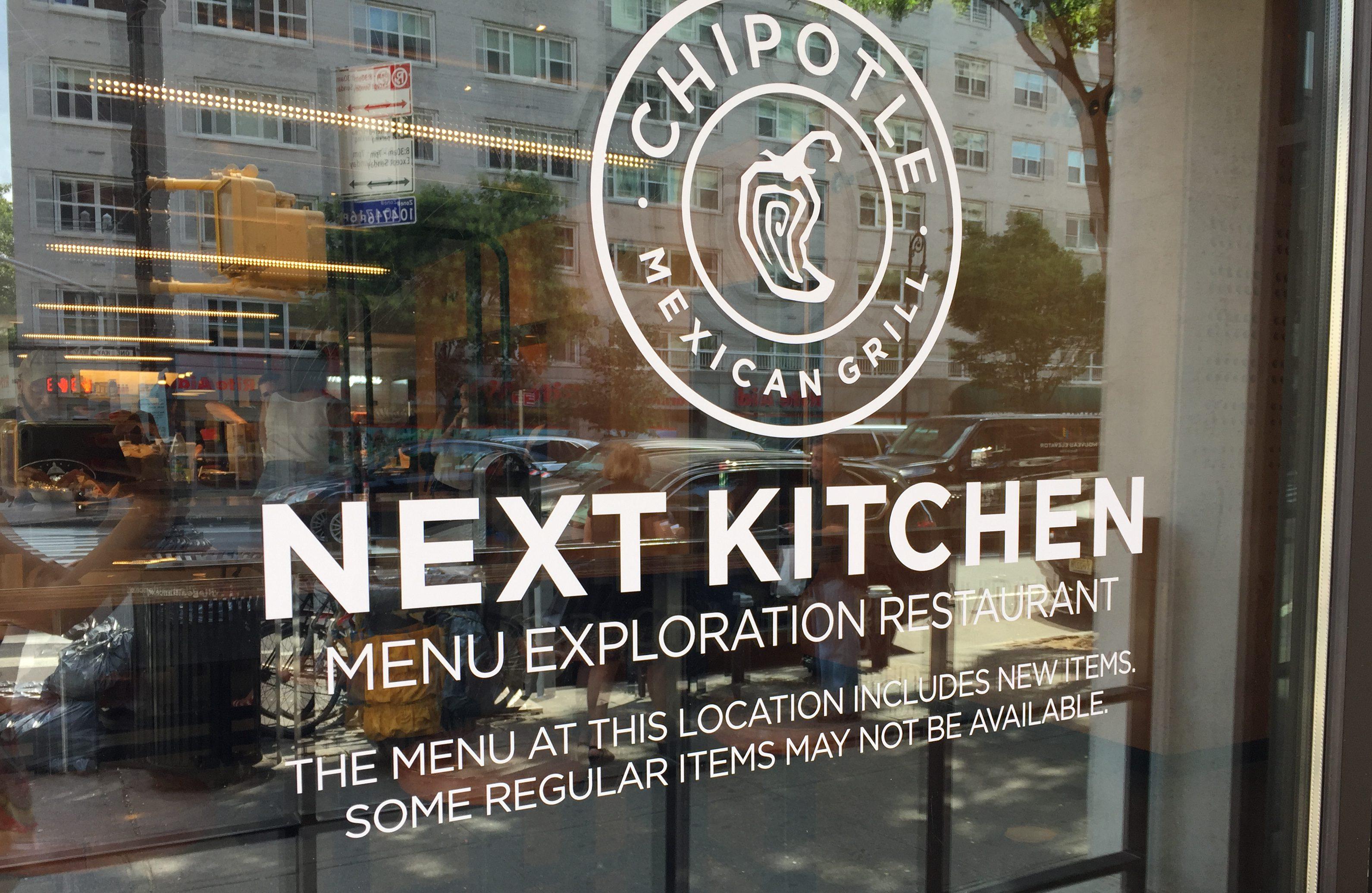 Chipotle opened NEXT Kitchen, it's first public-facing test kitchen in Manhattan on Monday.