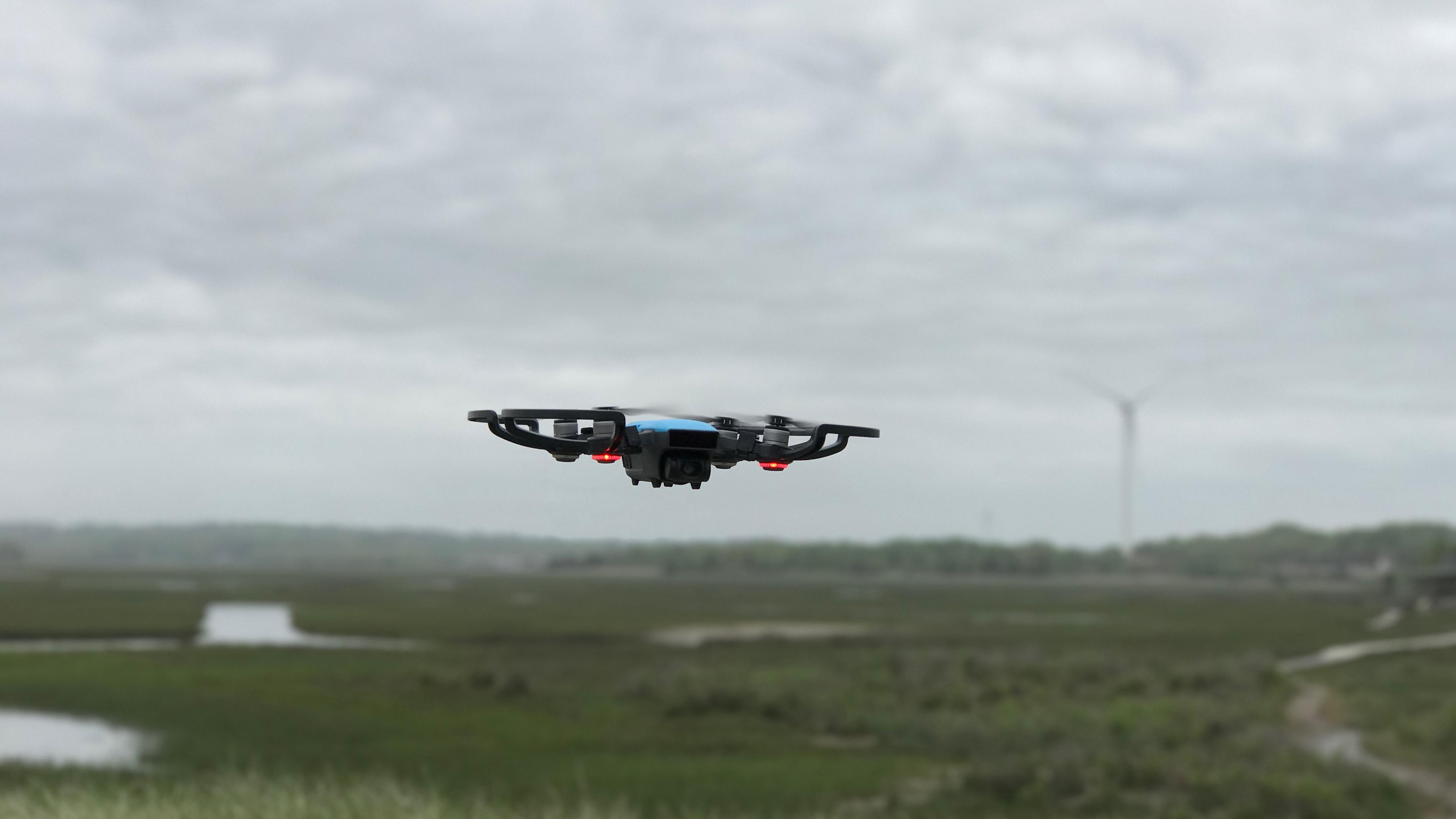 dji spark drone falling from sky