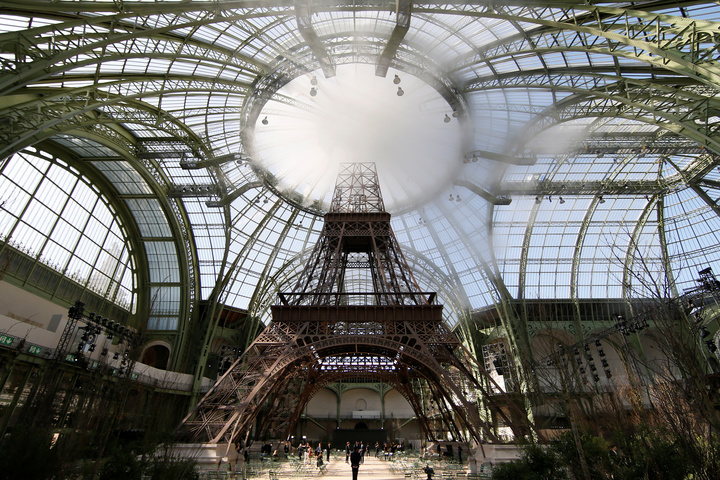 Chanel Eiffel Tower replica.
