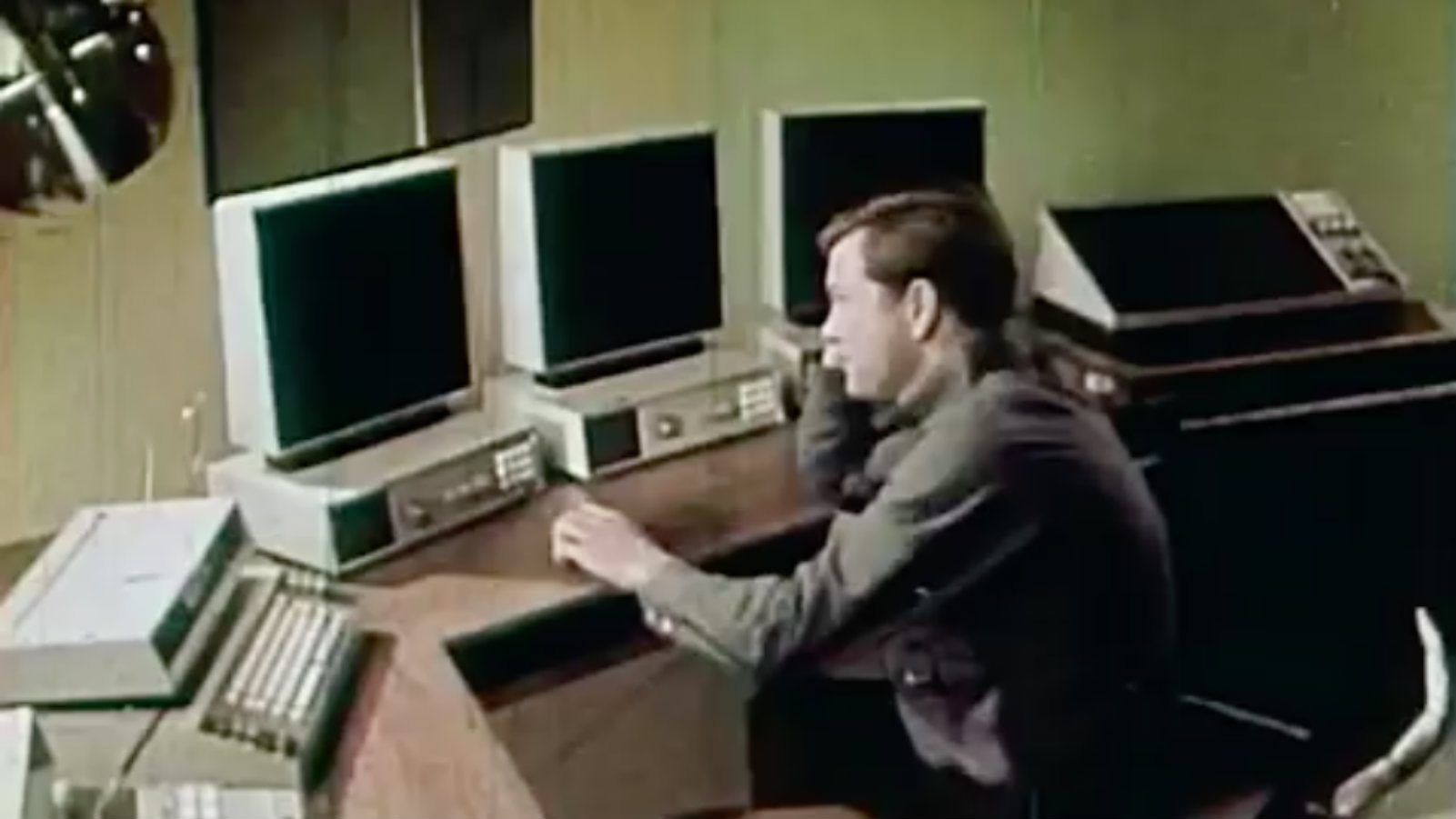 A still from the 1967 promotional film 1999 A.D.