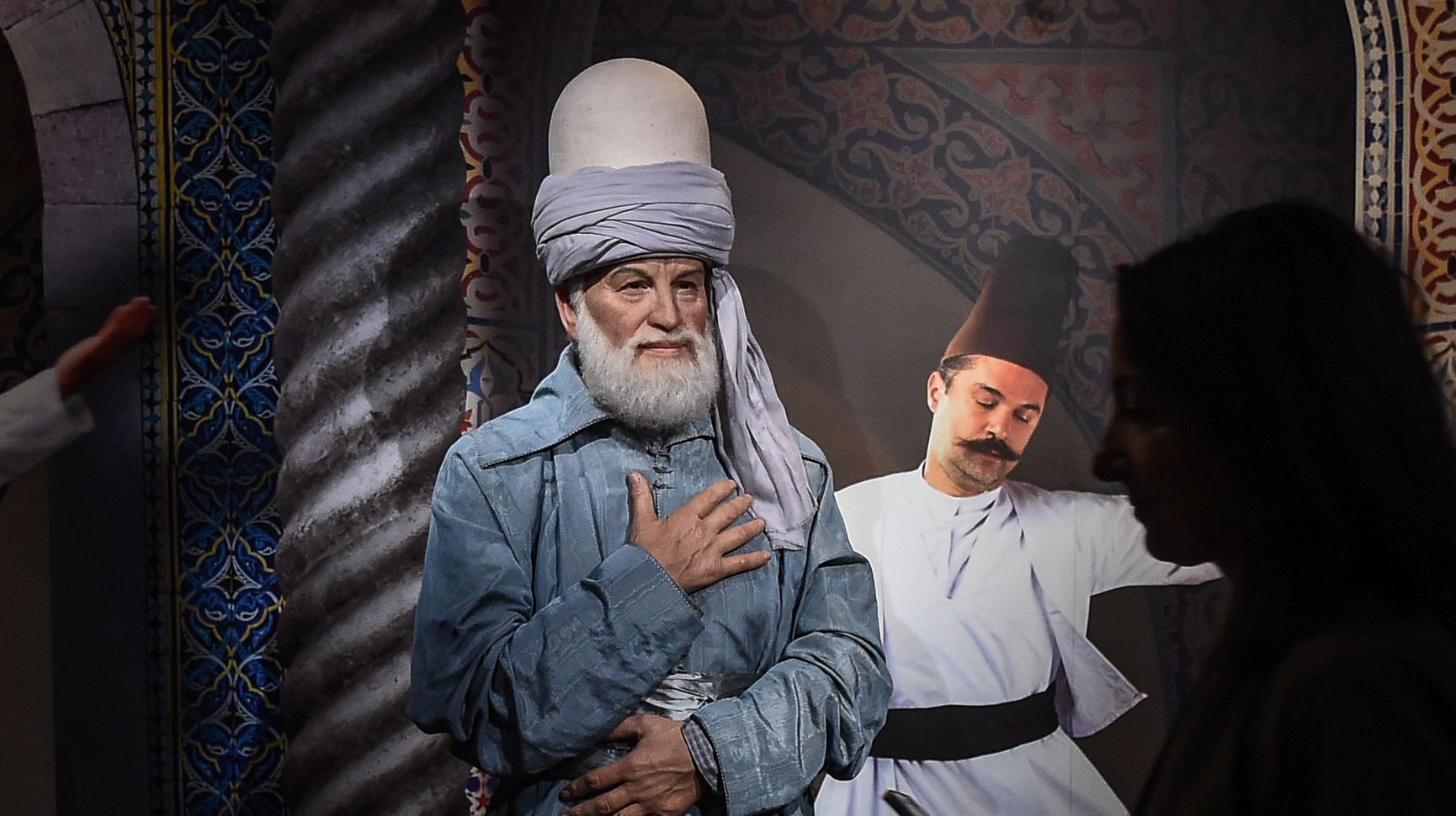 A wax figure of the poet Rumi