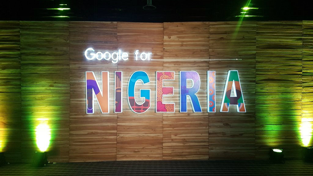 Welcome banner at Google For Nigeria event held at the Landmark Event Center in Lagos on July 27 2017