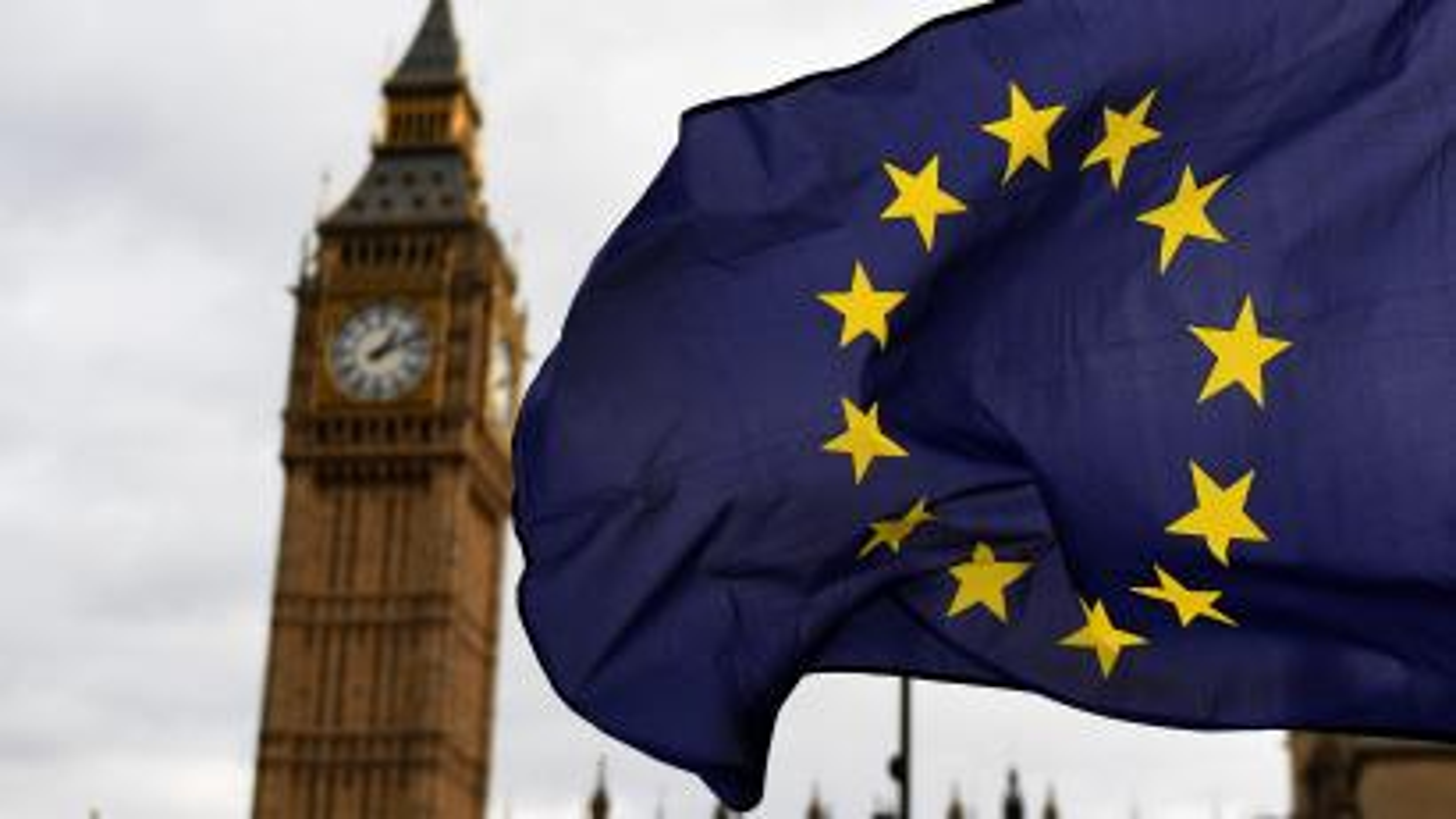 EU Migrants protest outside parliament in London