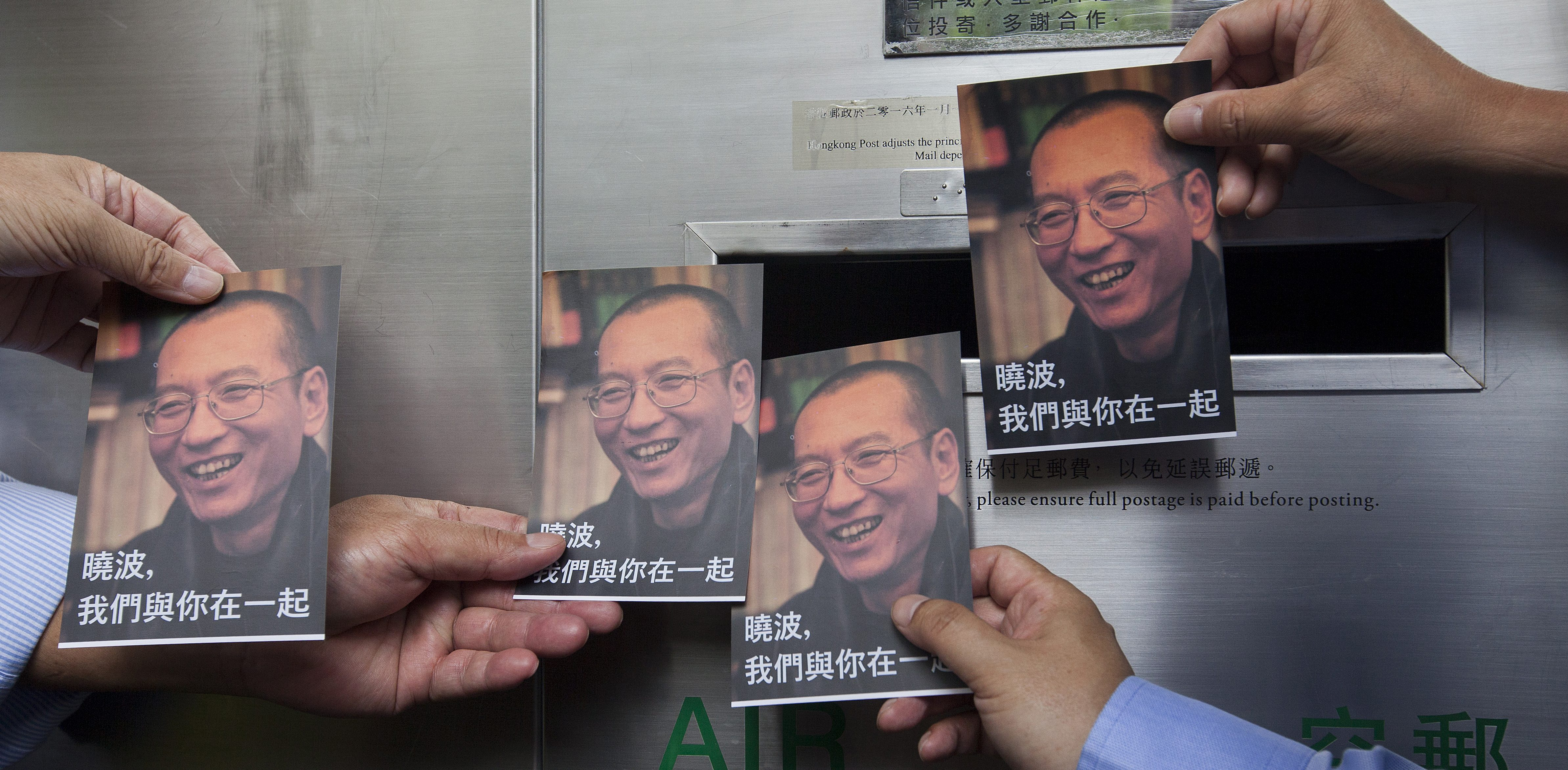 Activists send postcards to Chinese dissident Liu Xiaobo