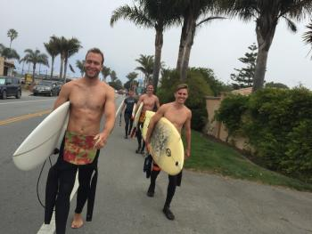 Surfers for O'Neill.