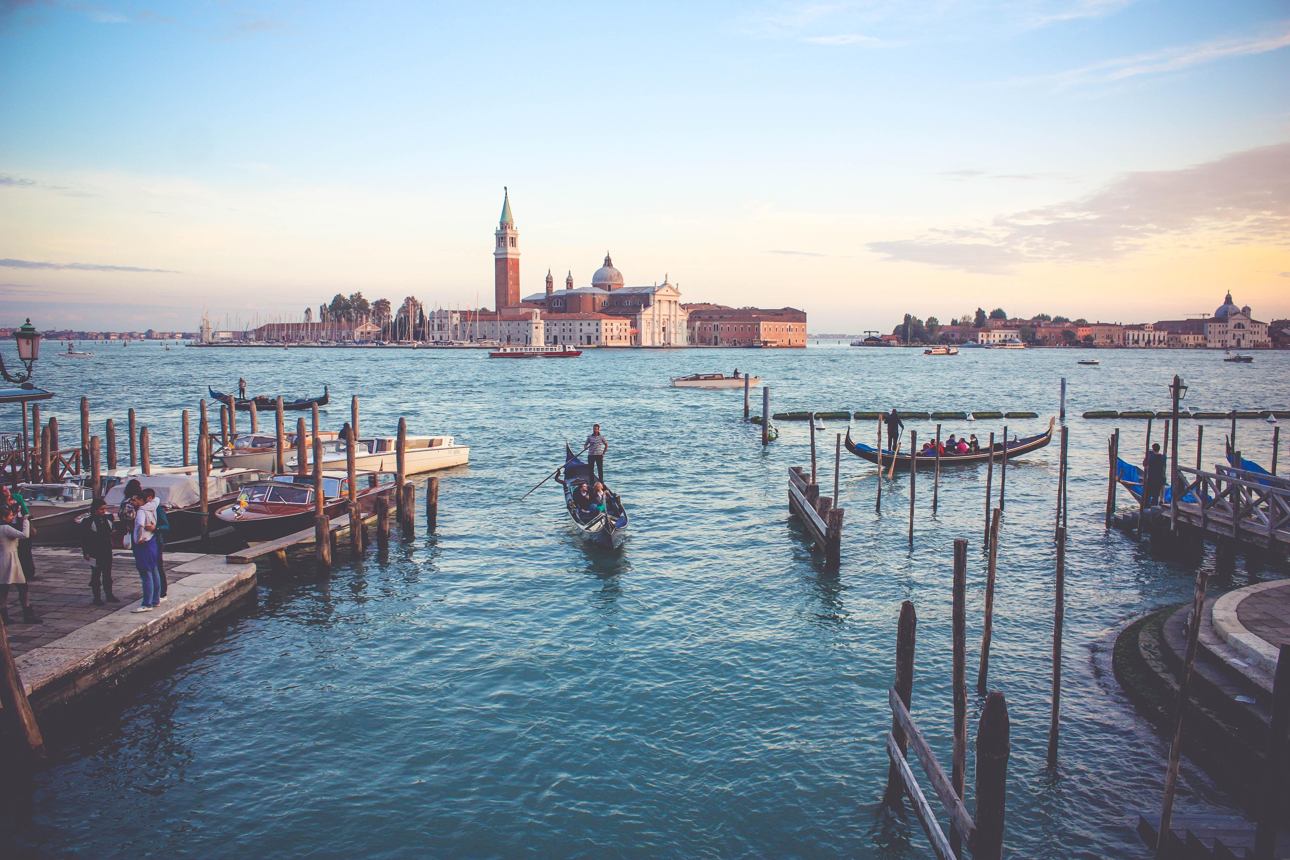 A gondola in Venice.