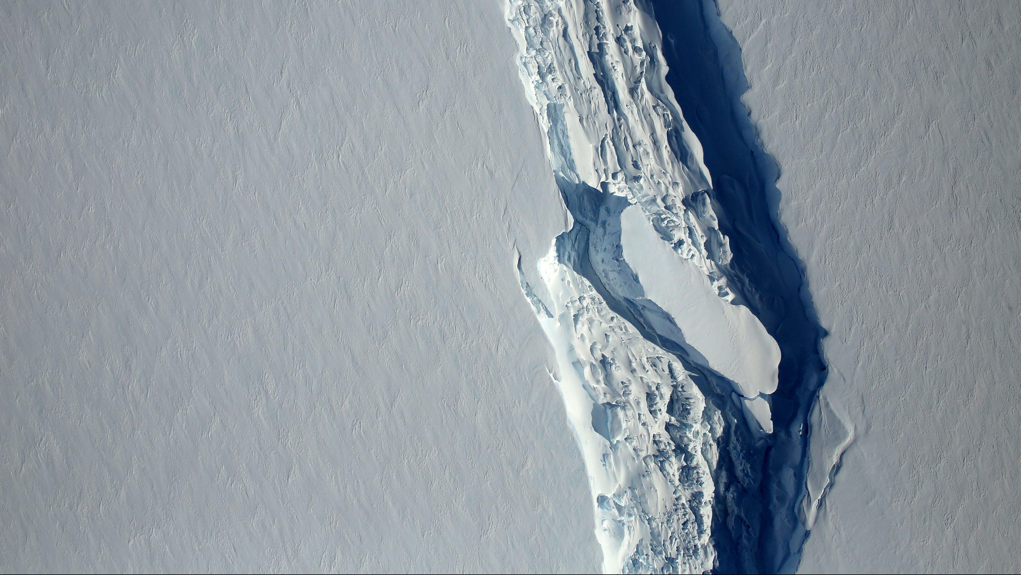 Overhead view of the Larsen C iceberg