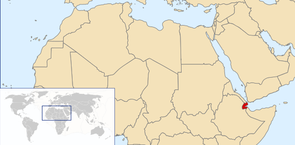 The location of Djibouti.