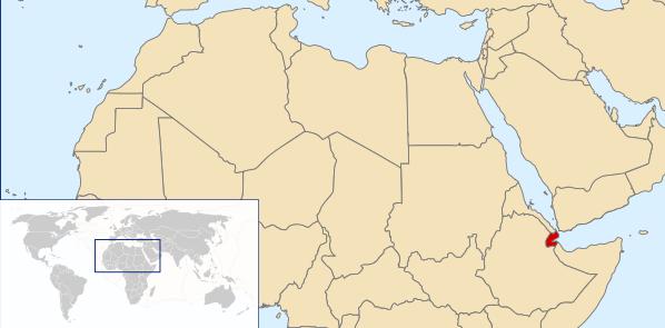 The location of Djibouti.