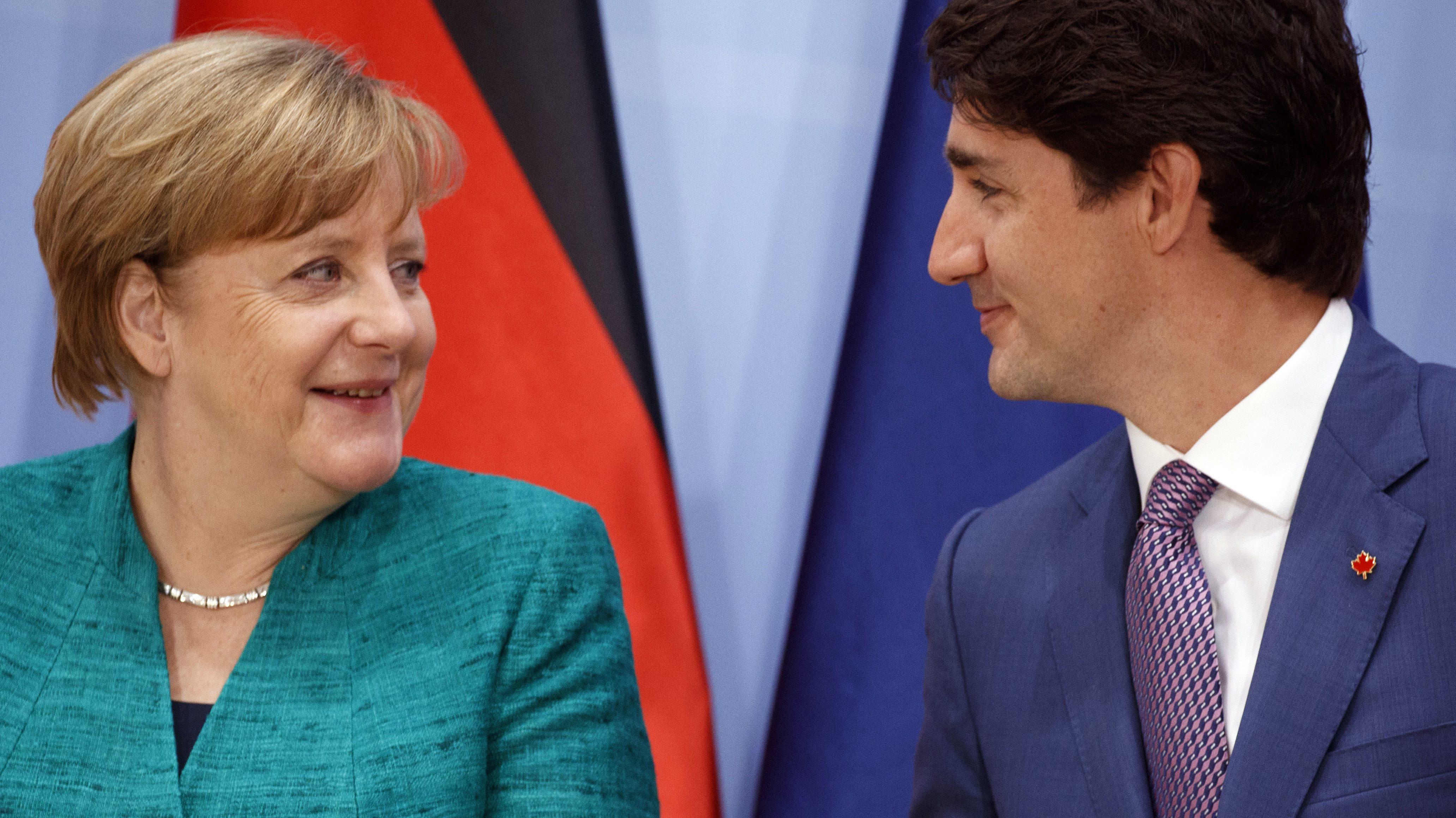 Angela Merkel, Justin Trudeau