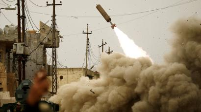 missile launching in mosul