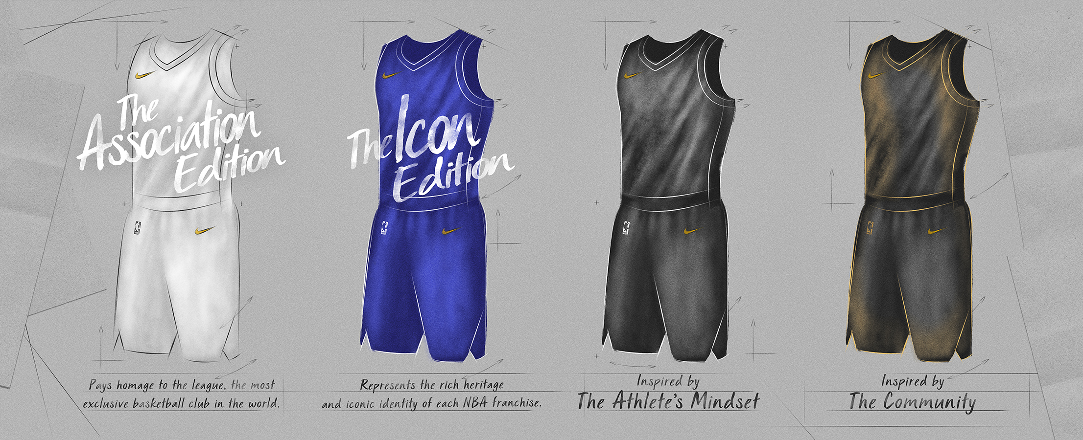 huge discount 79660 0863e Nike revealed the new 2017-2018 NBA uniforms, each made with ...