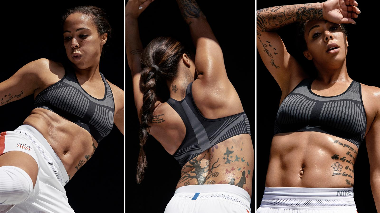 131074befa Nike s new Flyknit sports bra is made of just two pieces and is 30 ...