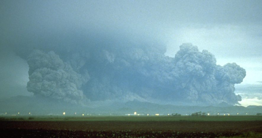 The plume of Mount Pinatubo in 1991