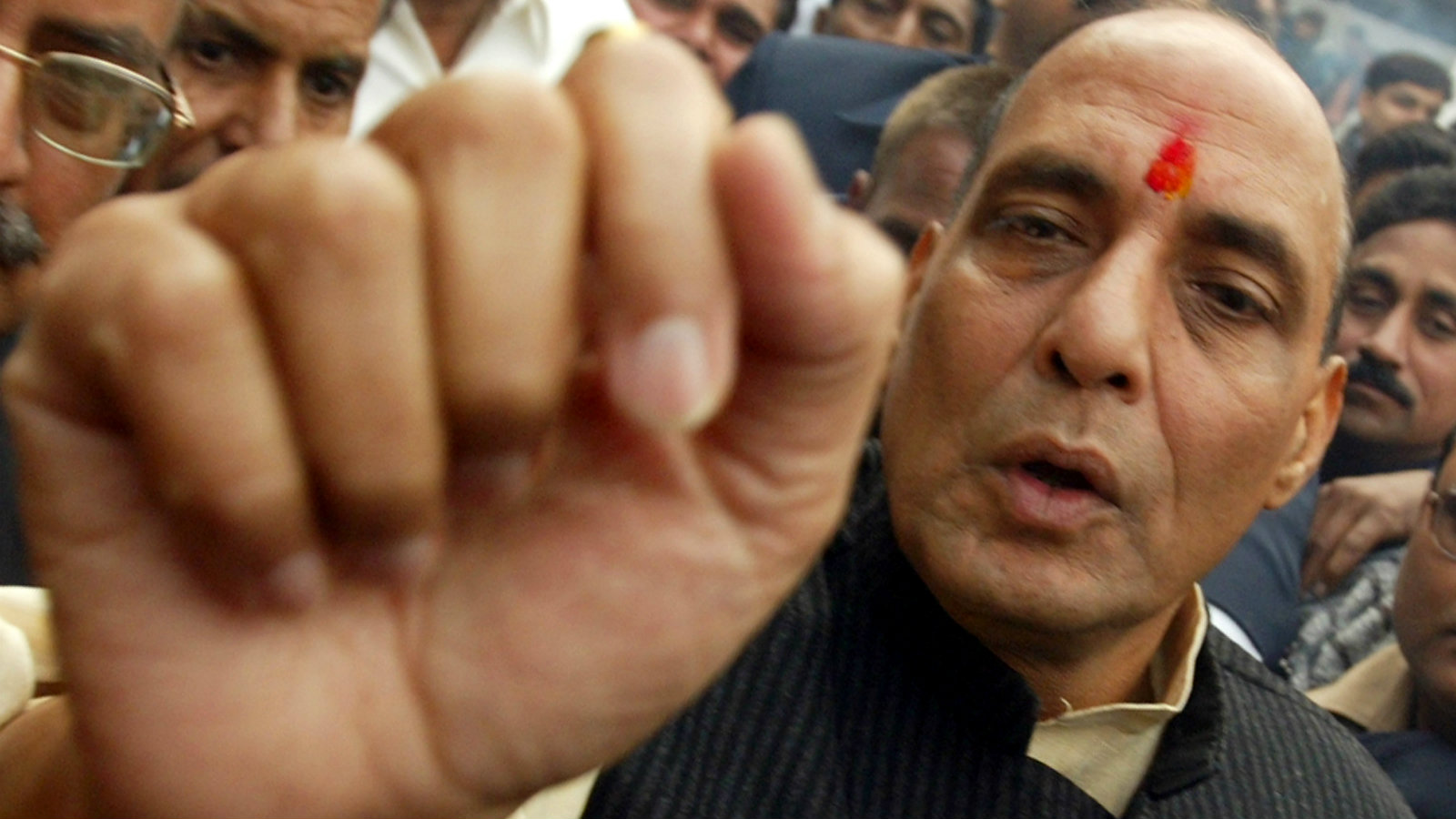Indian home minister Rajnath Singh.