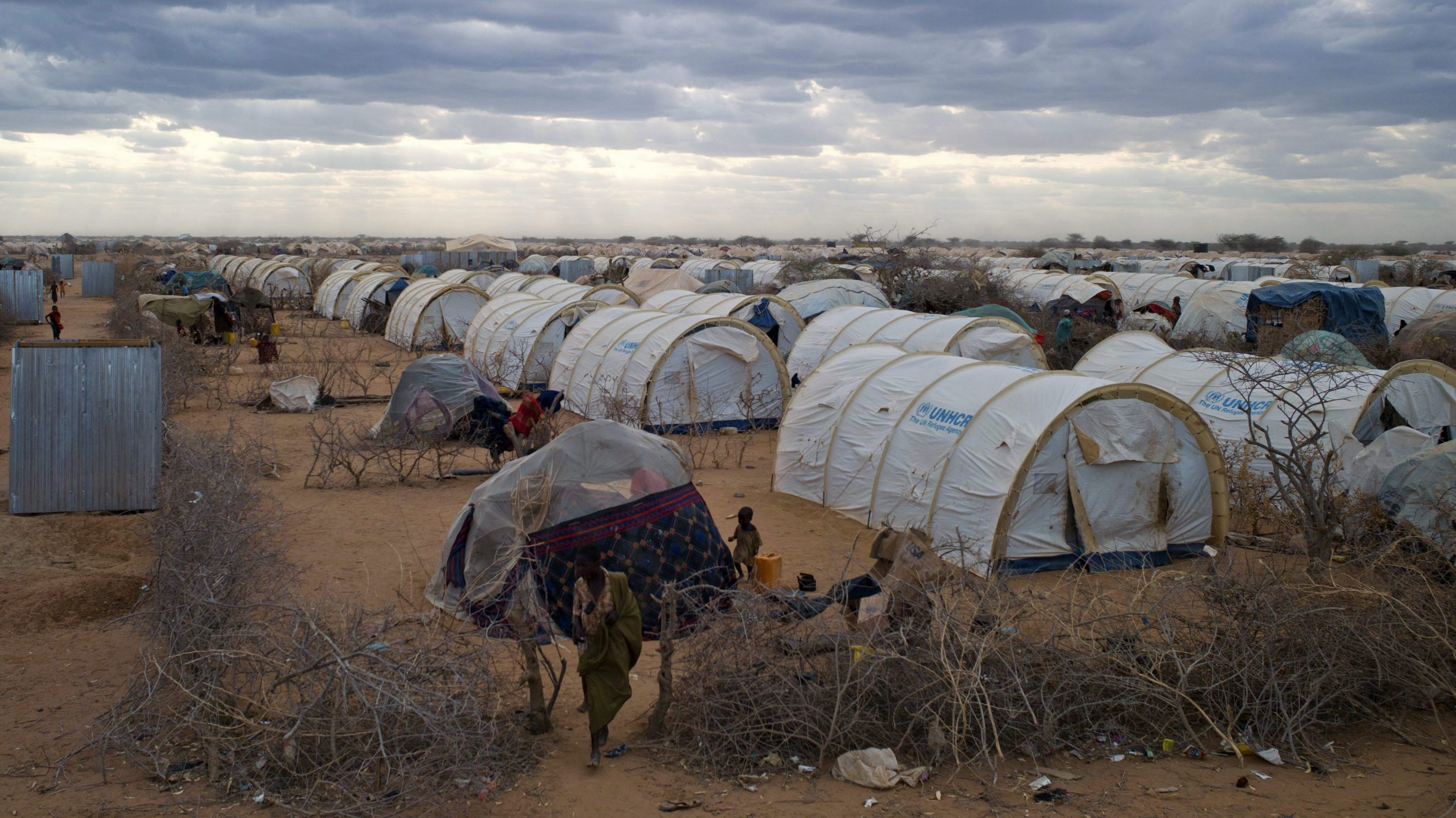 A tented settlement at the Dadaab refugee camp in Kenya.